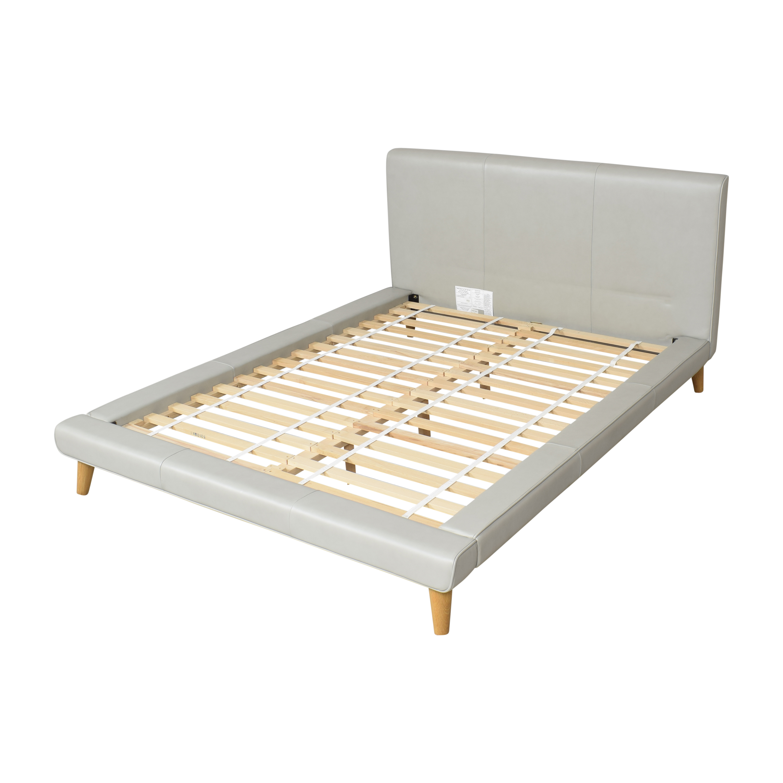 West Elm Mod Upholstered Queen Bed / Beds