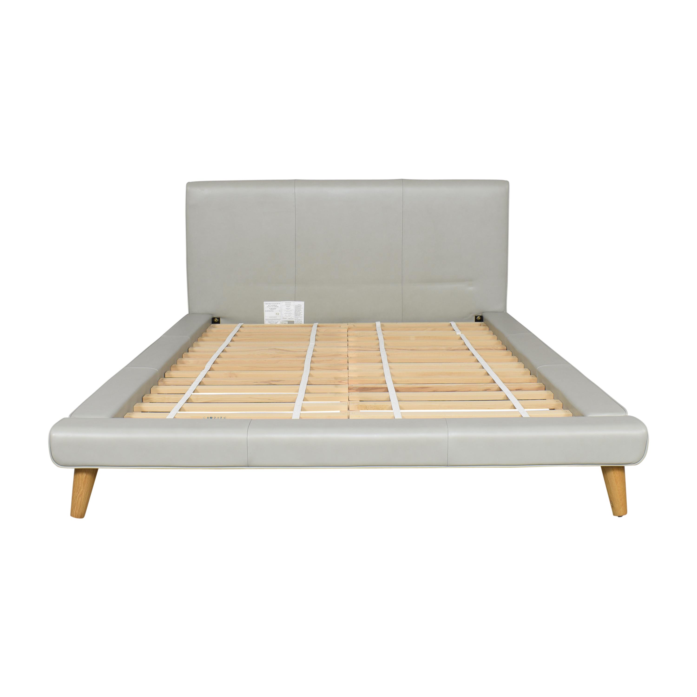 West Elm Mod Upholstered Queen Bed sale