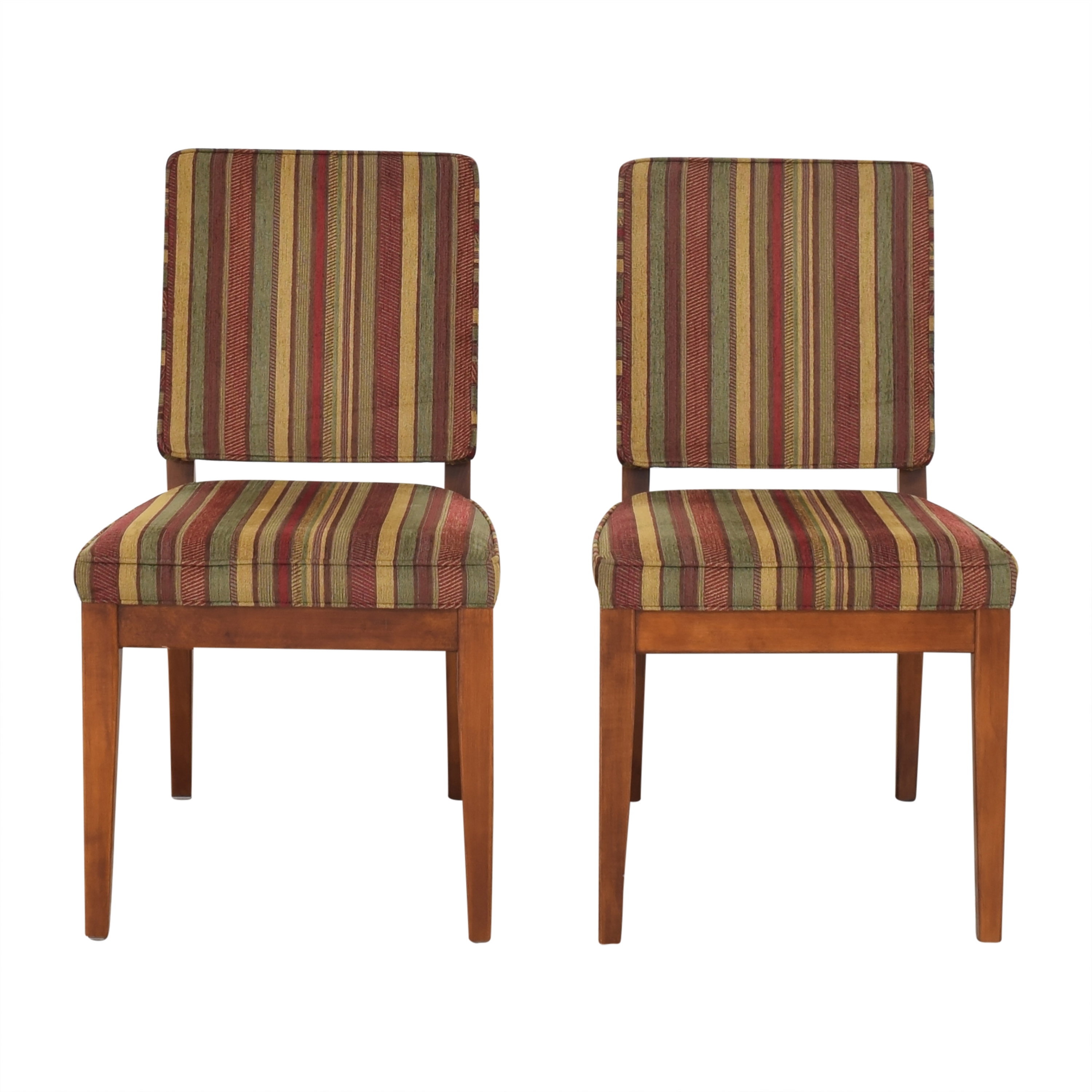 Stickley Furniture Stickley Furniture Carmel Striped Side Chairs second hand