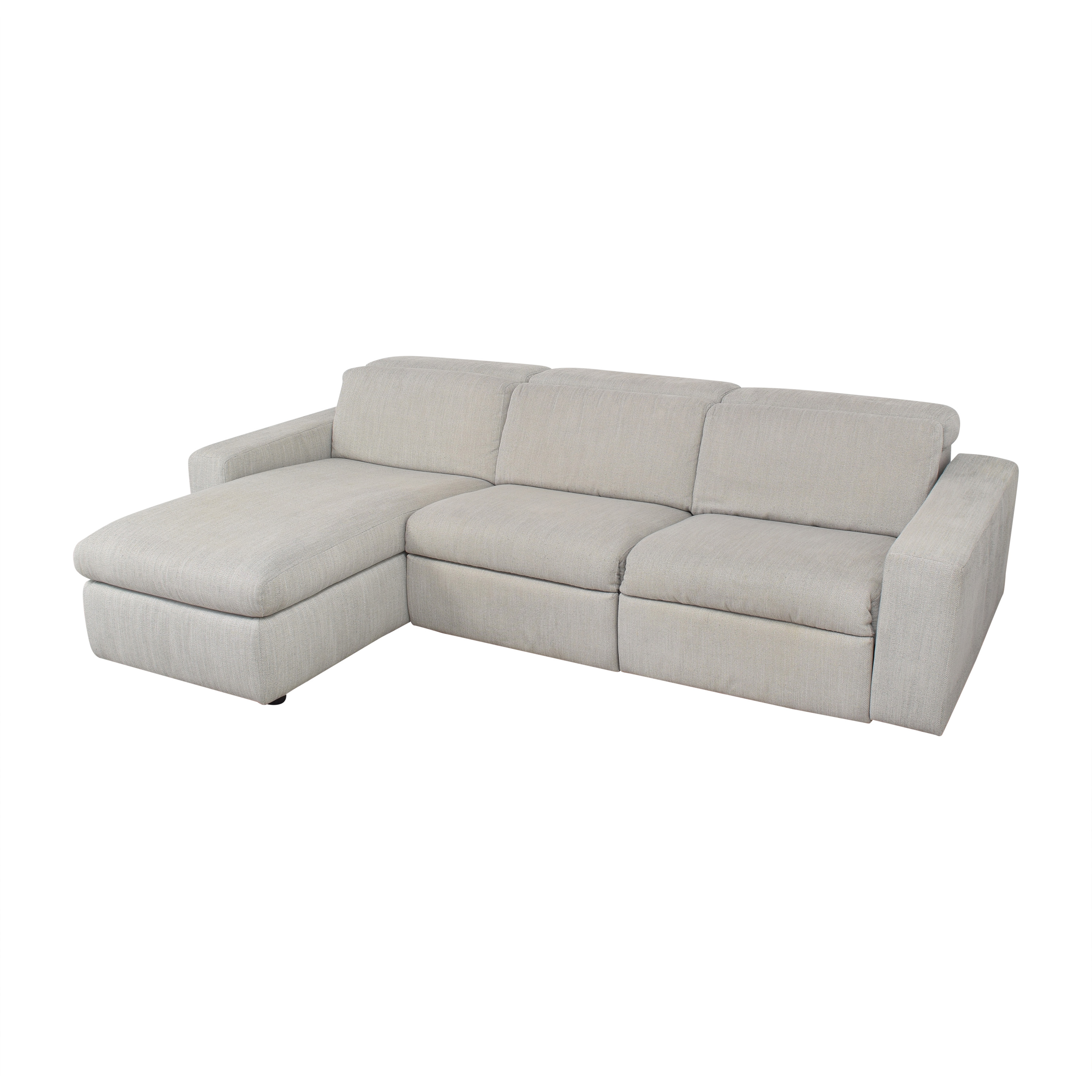 West Elm West Elm Enzo Reclining Chaise Sectional with Storage Sectionals