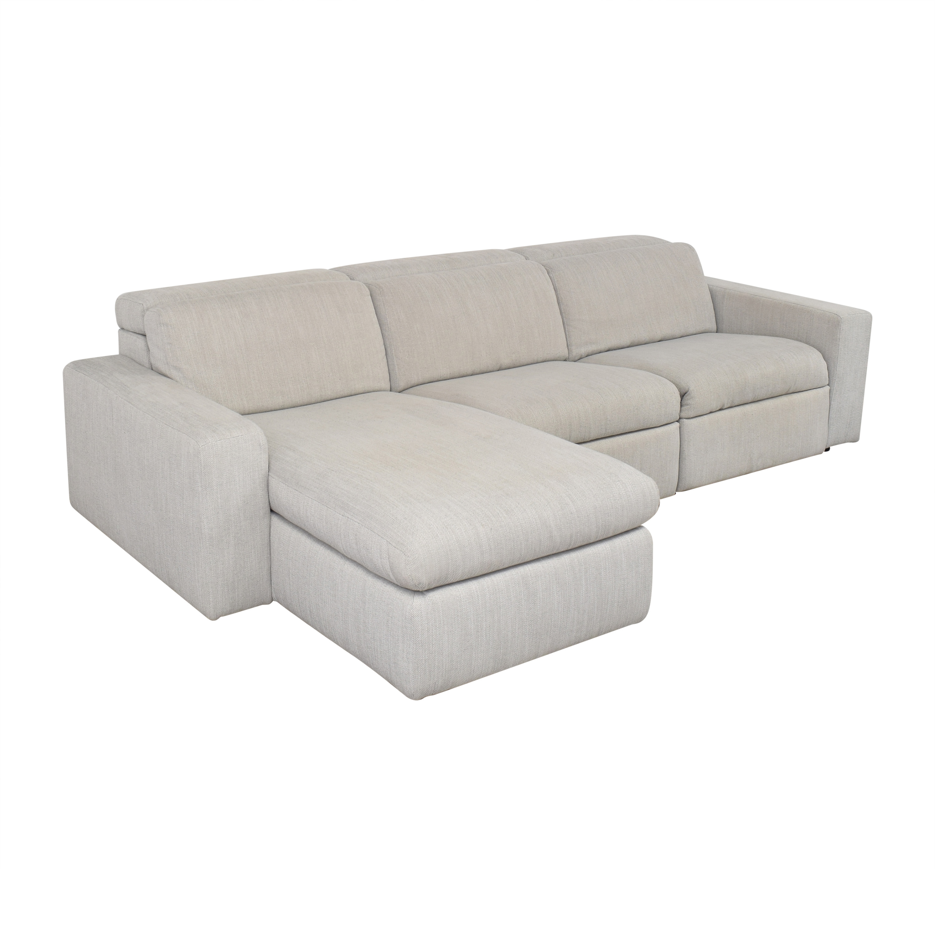 West Elm West Elm Enzo Reclining Chaise Sectional with Storage nj