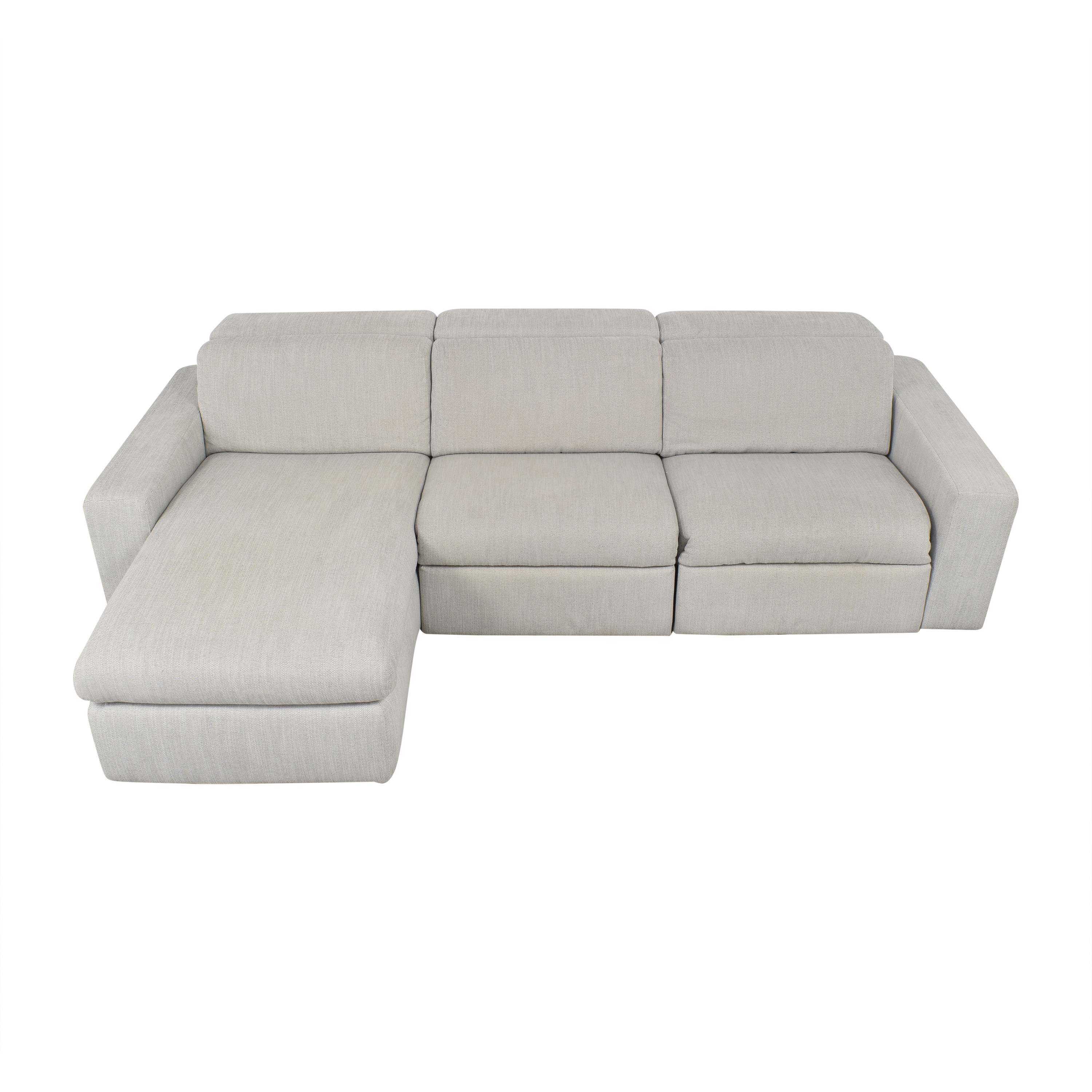 West Elm West Elm Enzo Reclining Chaise Sectional with Storage Sofas