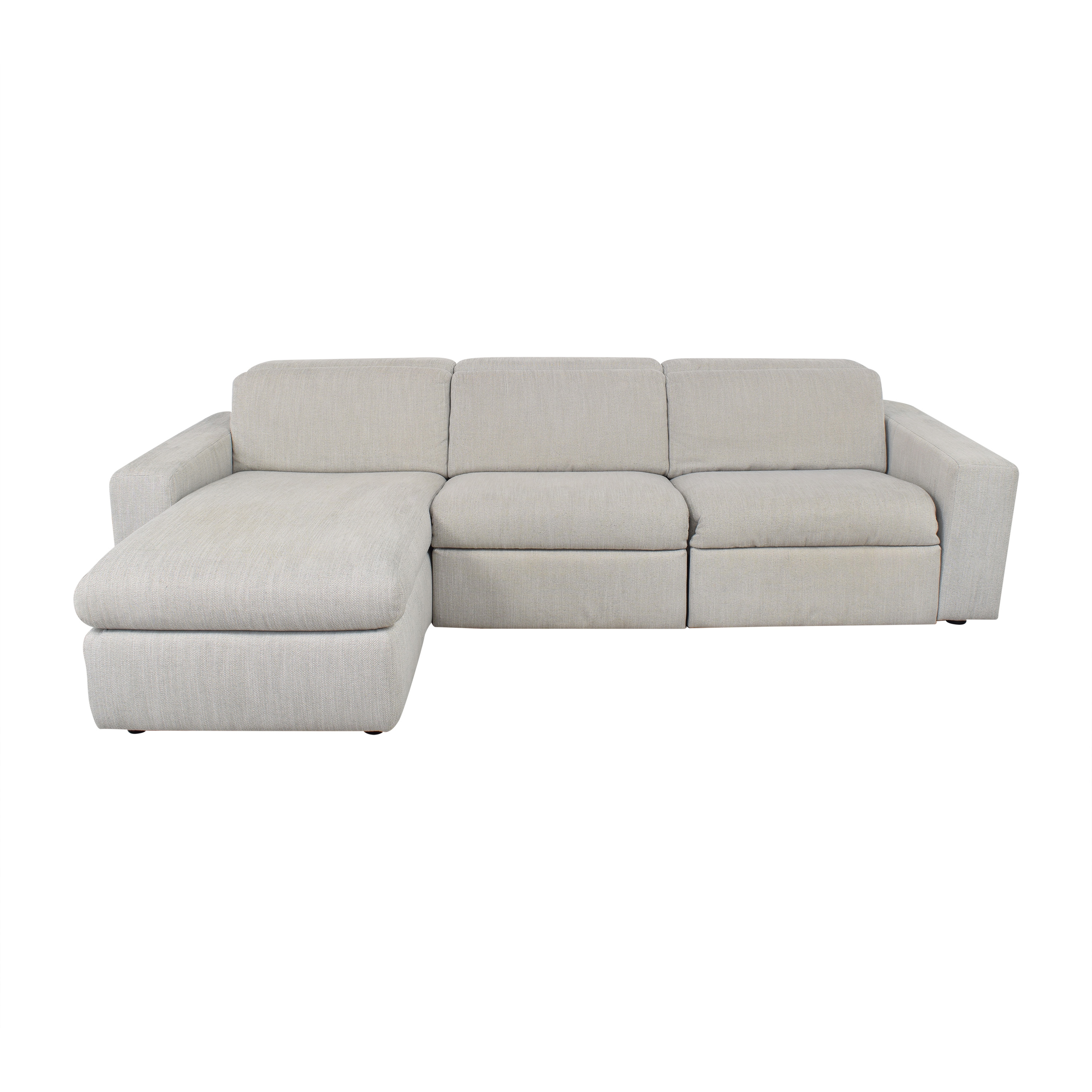 West Elm West Elm Enzo Reclining Chaise Sectional with Storage