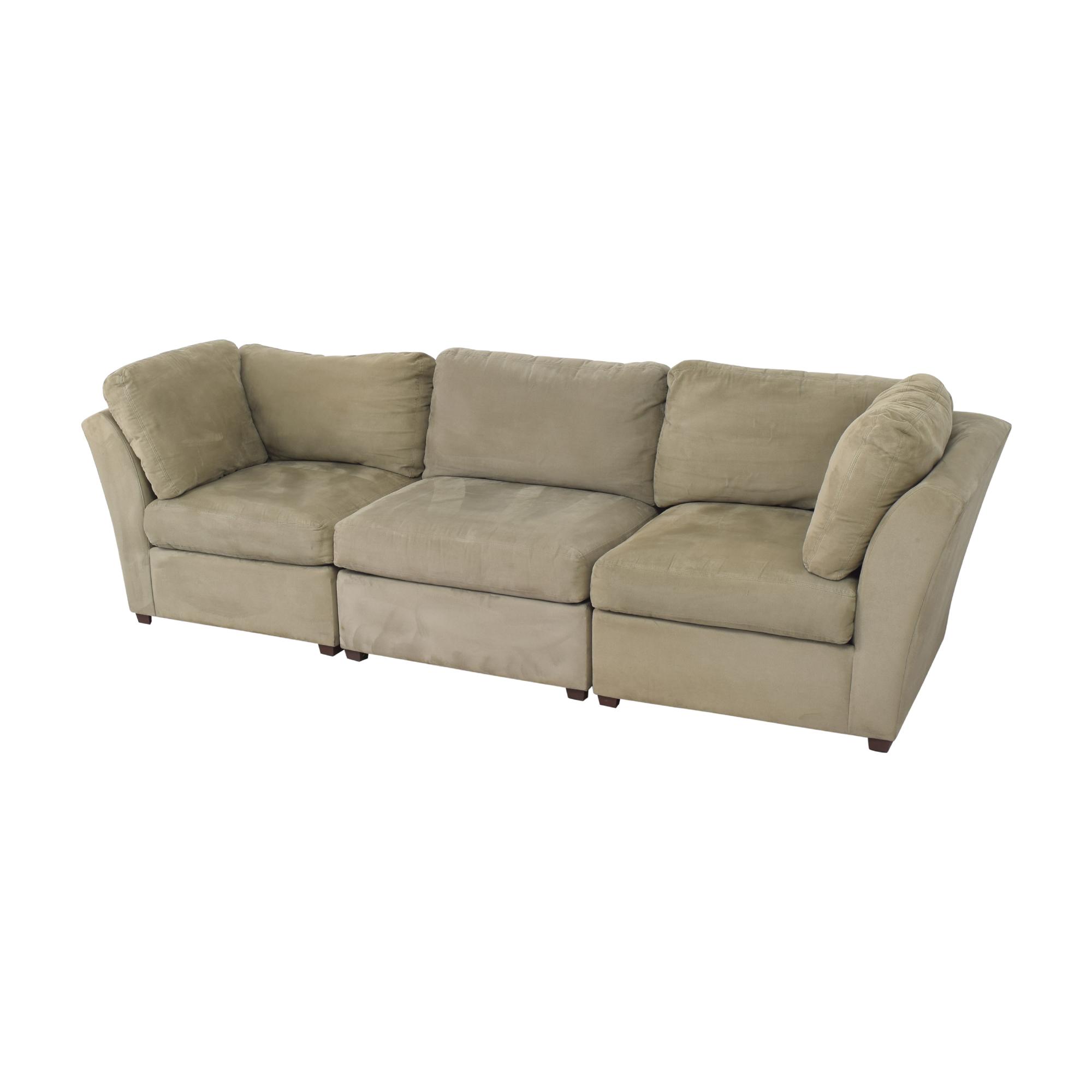 Raymour & Flanigan Raymour & Flanigan Modular Sofa green