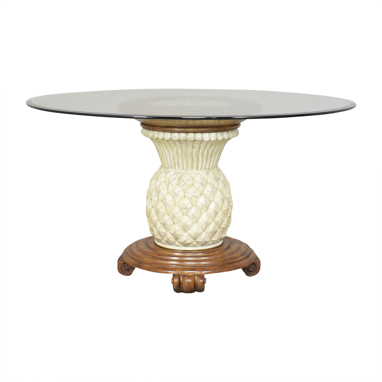 shop Pineapple Base Pedestal Dining Table