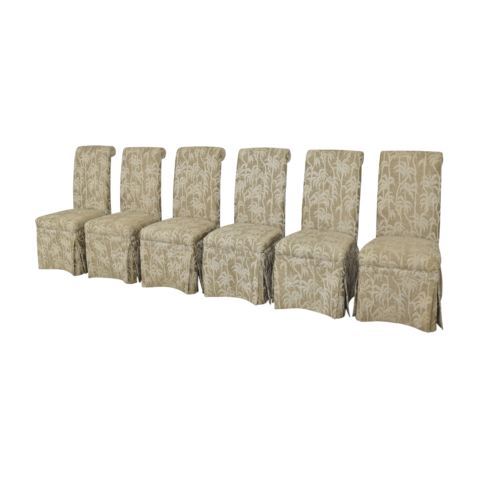 Palm Tree Scroll Back Dining Chairs / Chairs