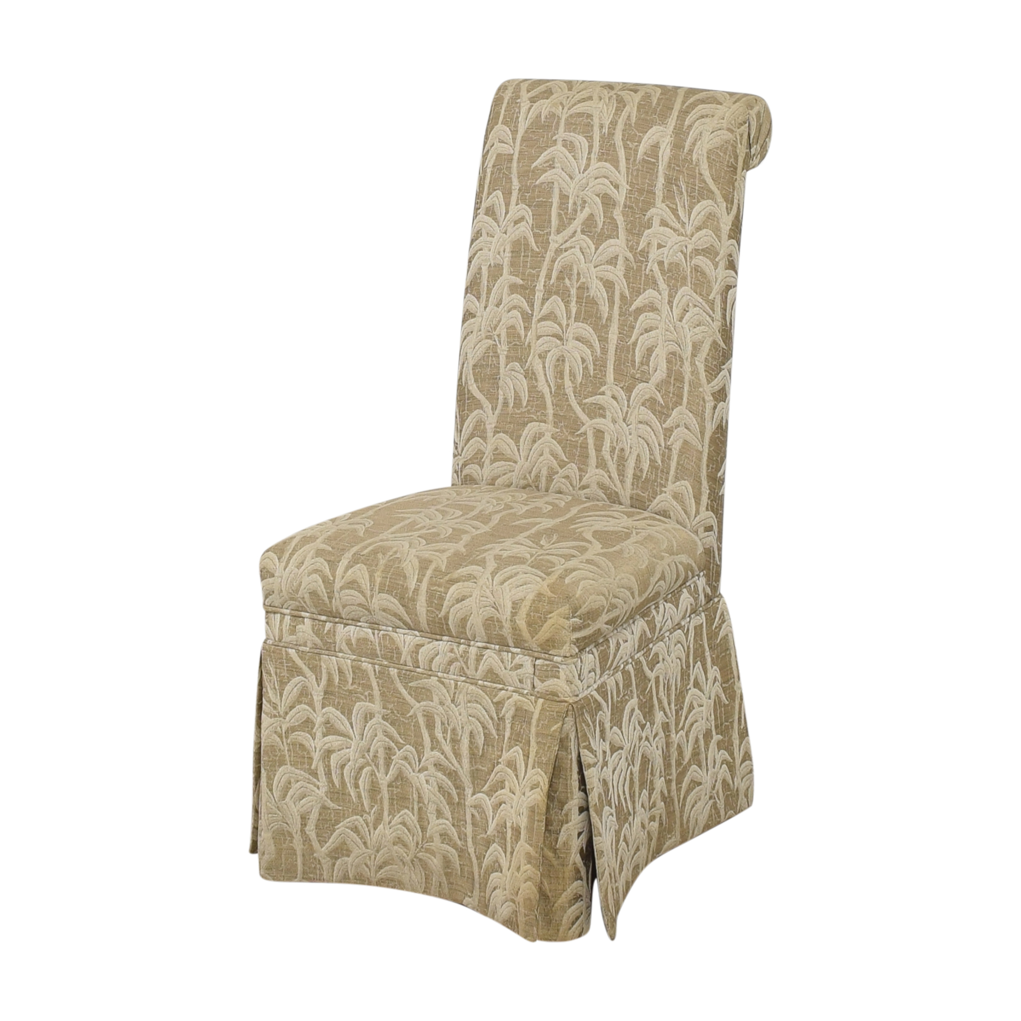 Palm Tree Scroll Back Dining Chairs dimensions
