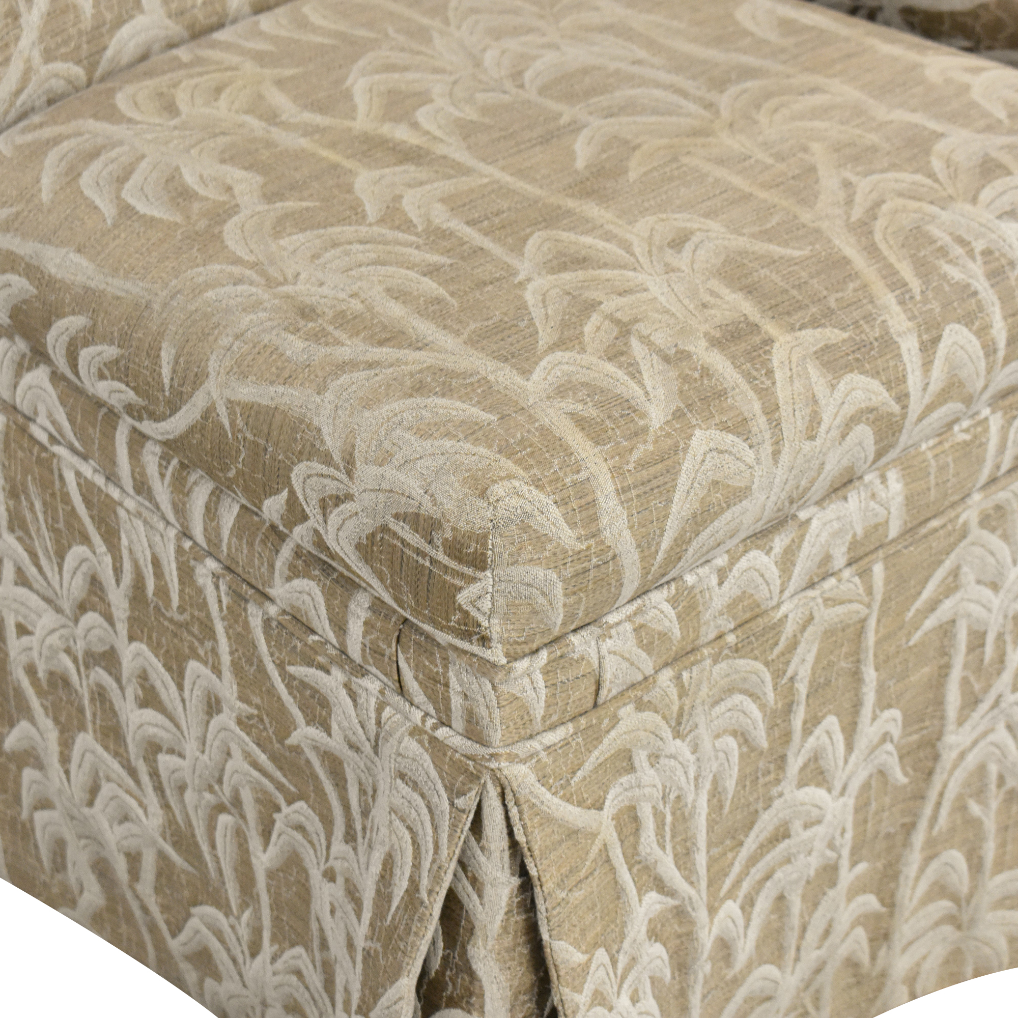 Palm Tree Scroll Back Dining Chairs beige