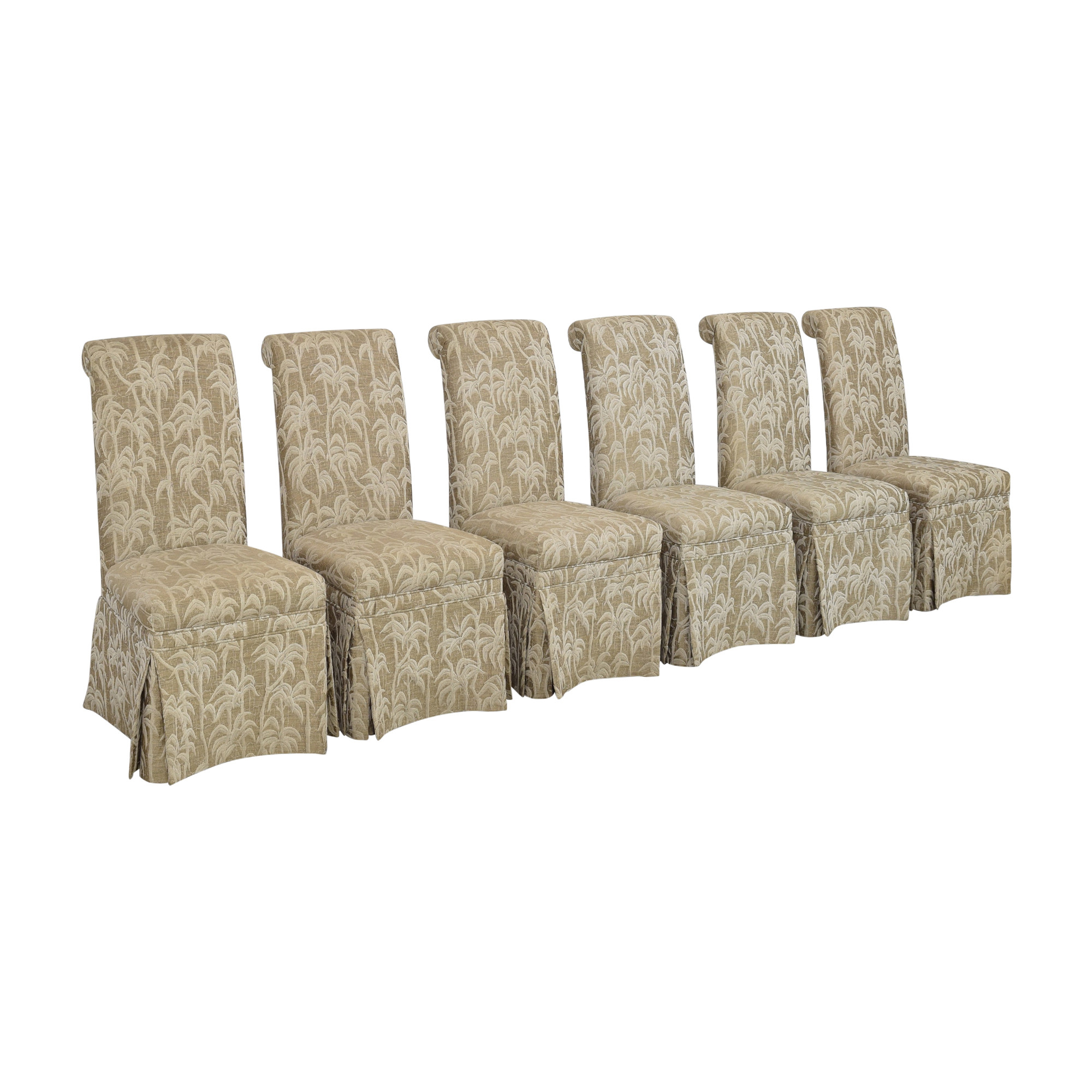 Palm Tree Scroll Back Dining Chairs nj