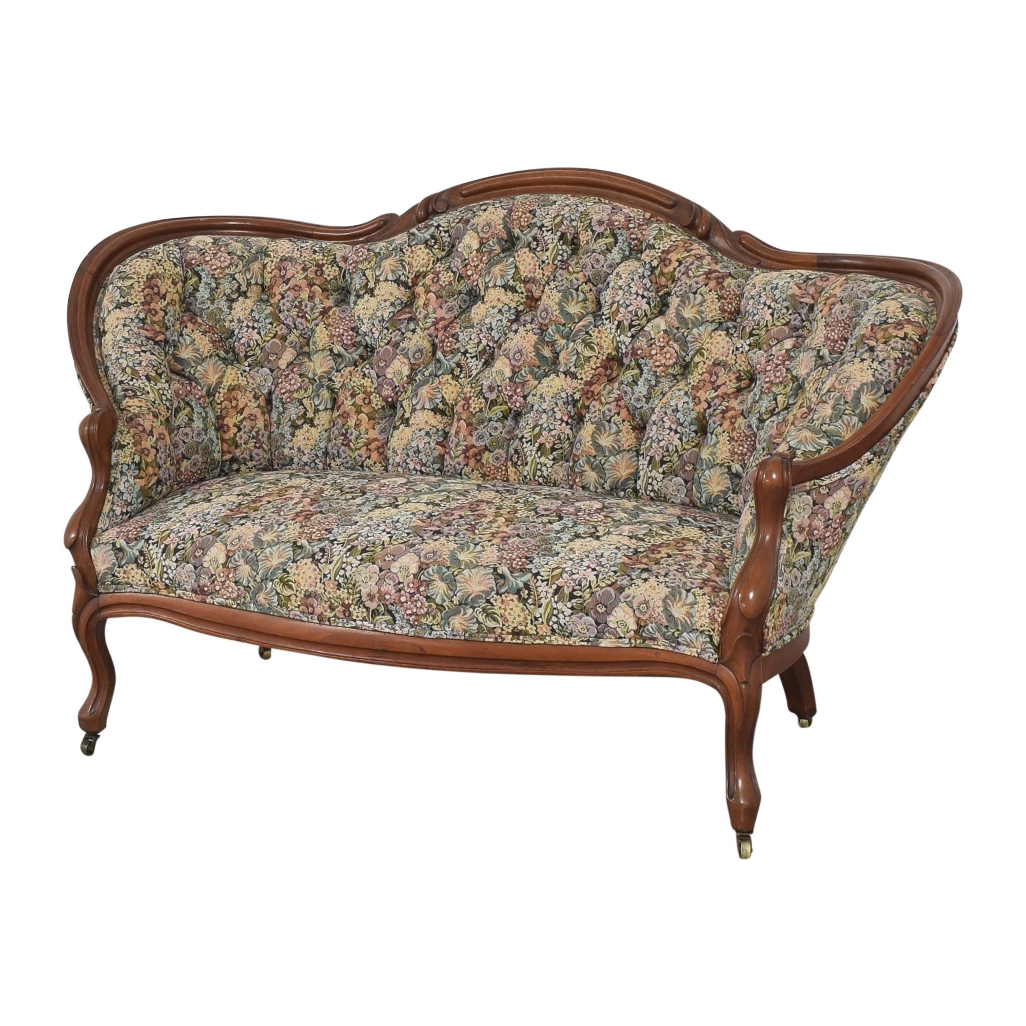 buy  Vintage Floral Tufted Settee online