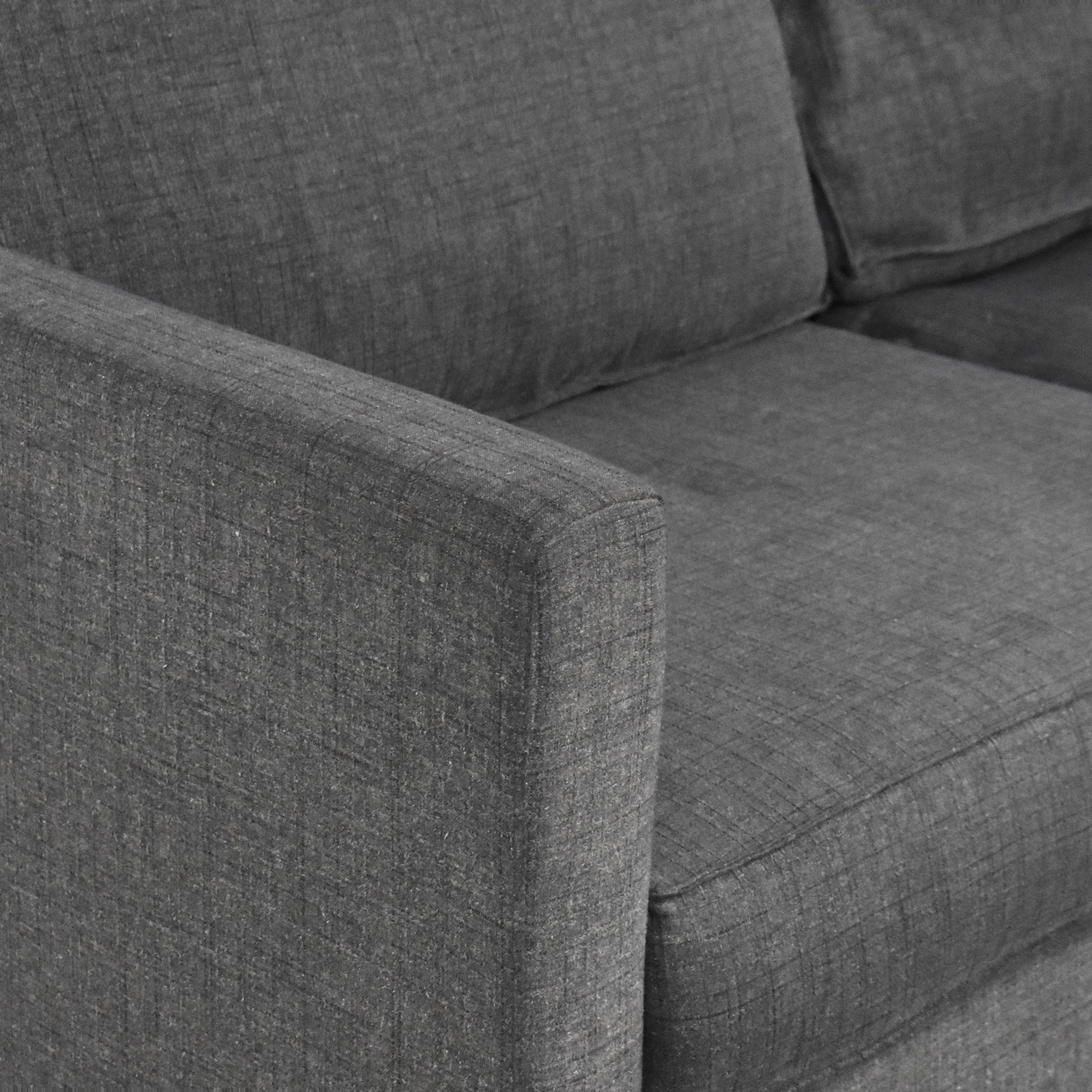 shop Gus Modern Parkdale Chaise Sectional Sofa Gus Modern