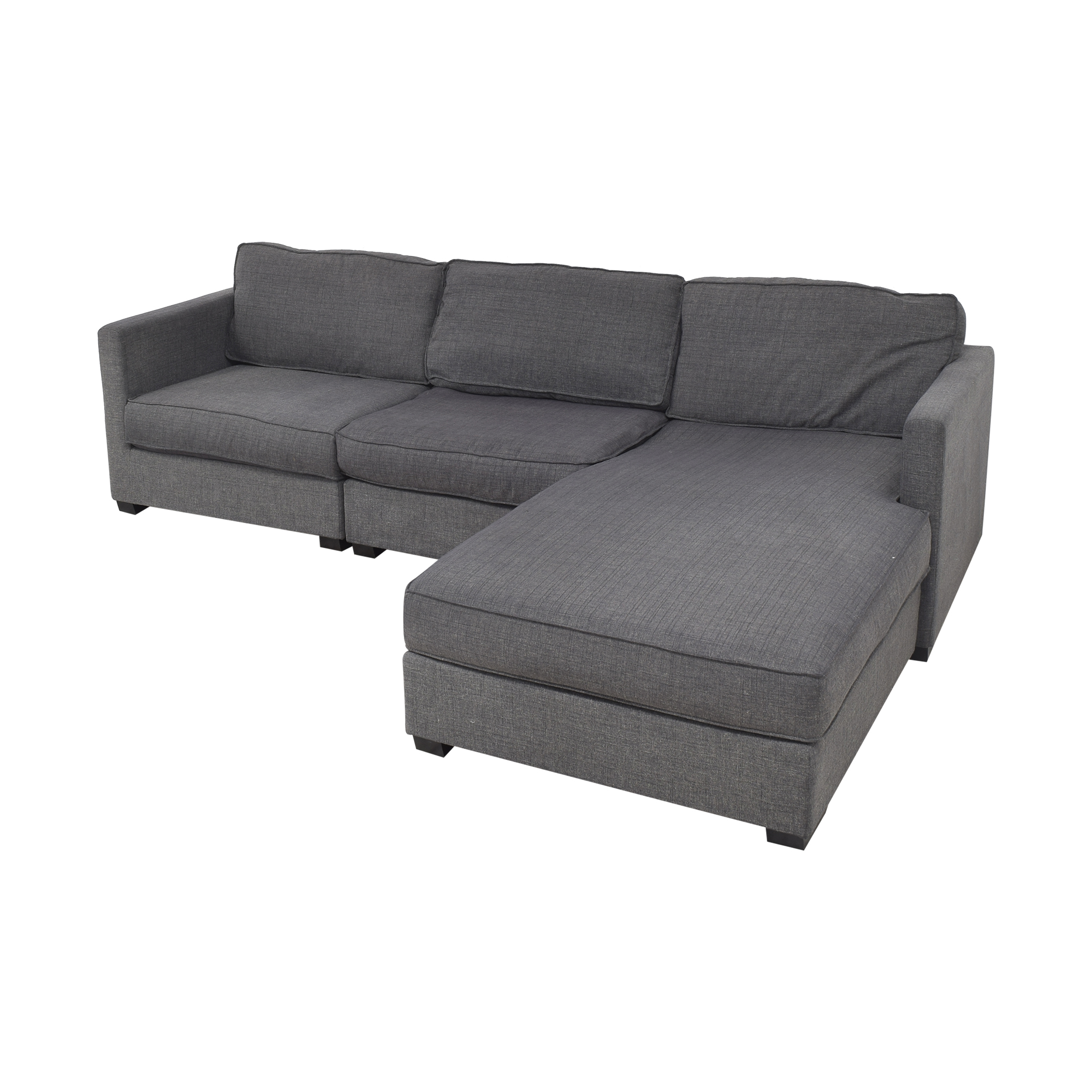 Gus Modern Parkdale Chaise Sectional Sofa sale