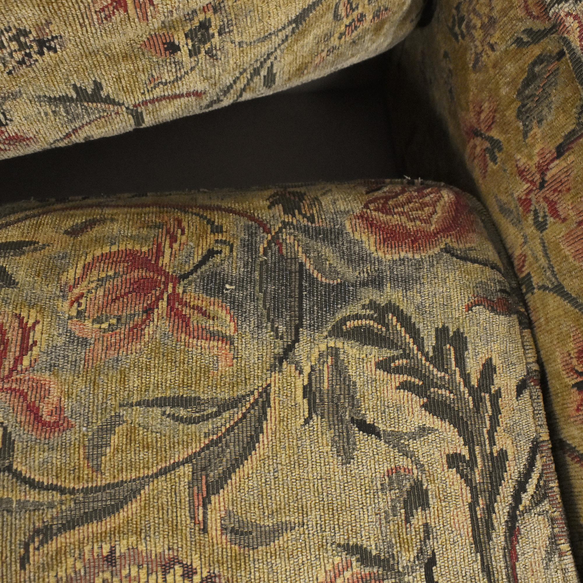 Clayton Marcus Clayton Marcus Skirted Two Cushion Sofa for sale