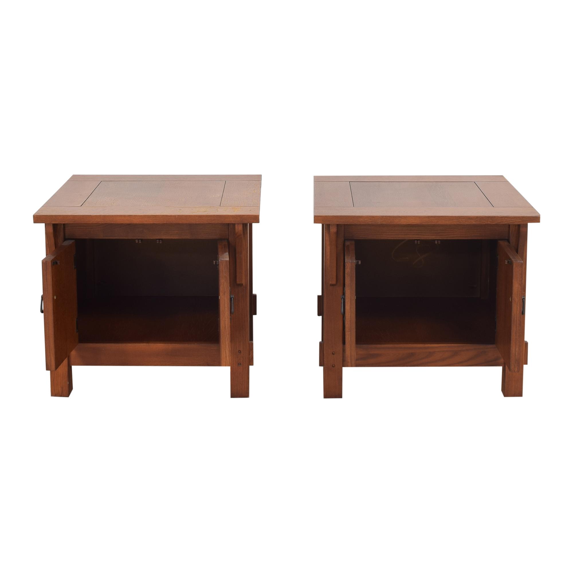 Bassett Furniture Bassett Furniture Two Door End Tables