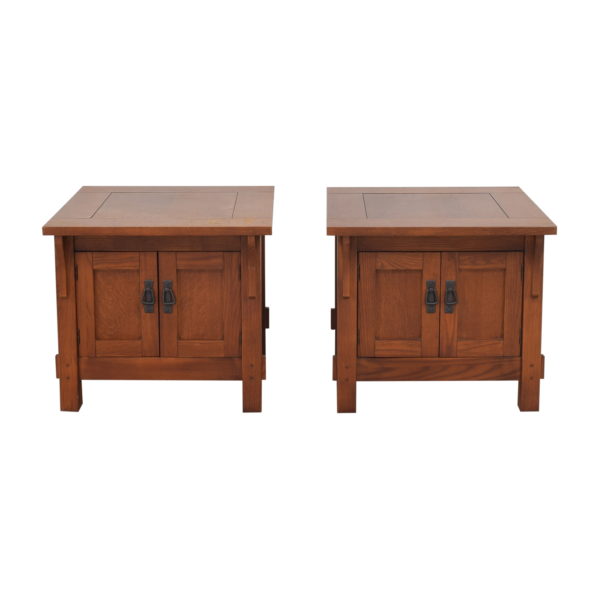 Bassett Furniture Bassett Furniture Two Door End Tables ct