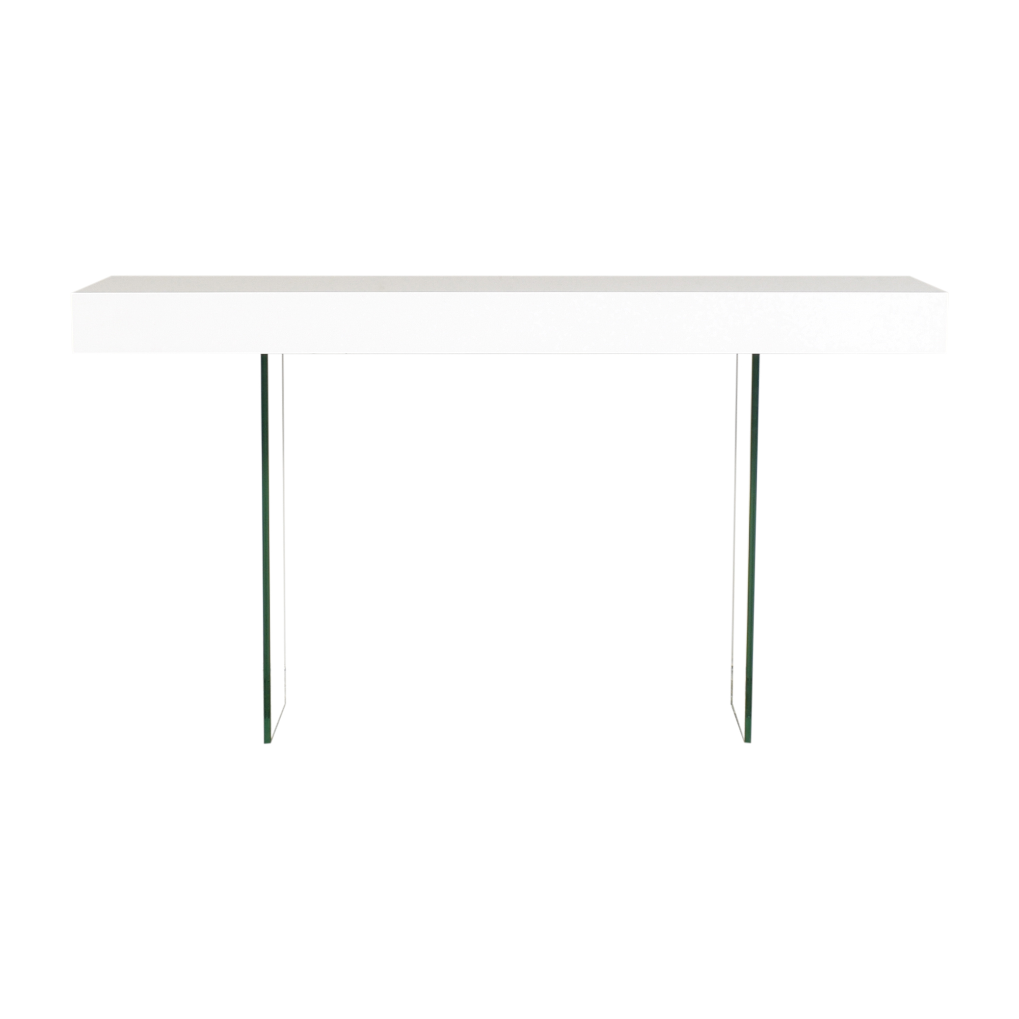Modloft Modloft Transparent Leg Accent Table for sale