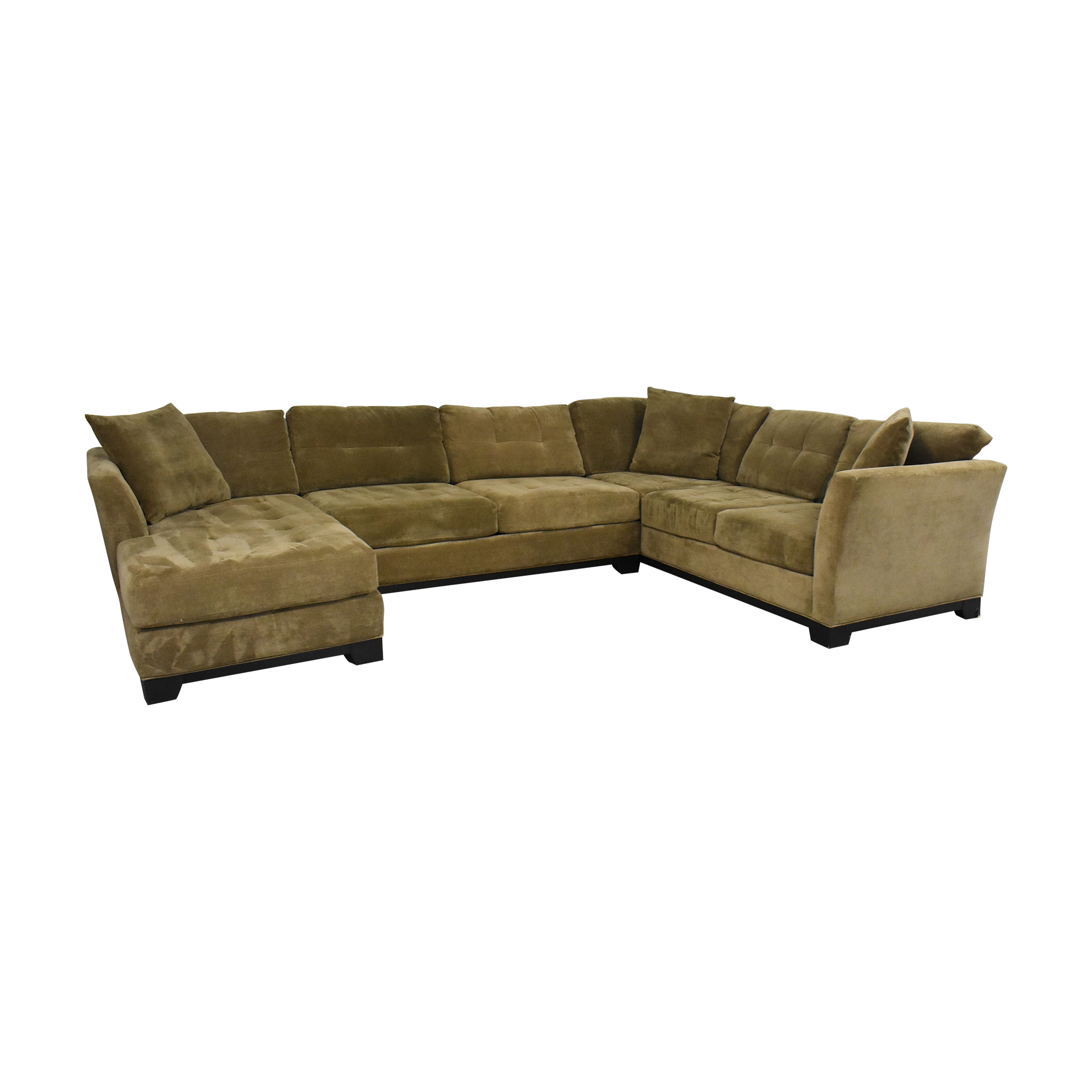 Macy's Macy's Elliot Three Piece Sectional Sofa tan