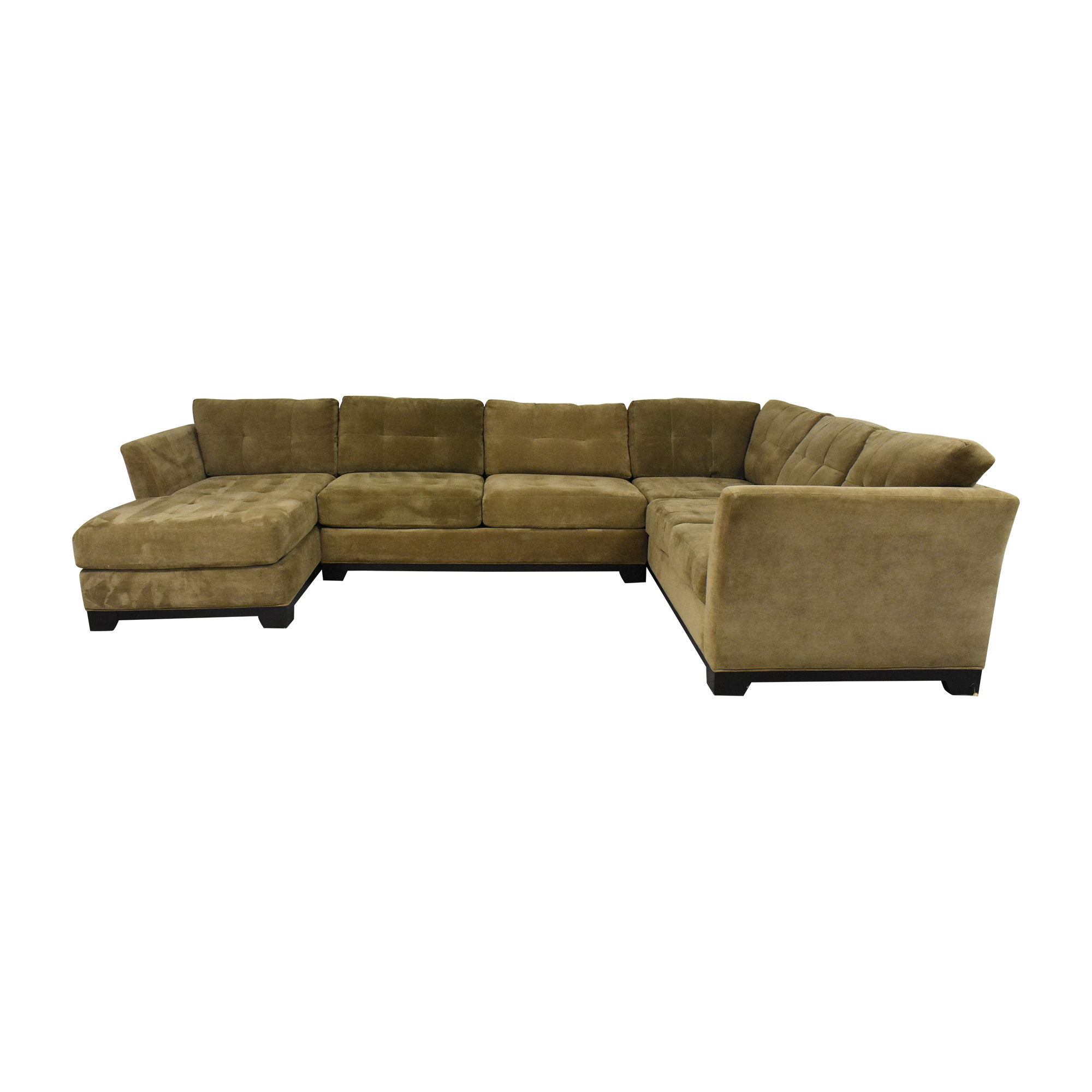 shop Macy's Elliot Three Piece Sectional Sofa Macy's