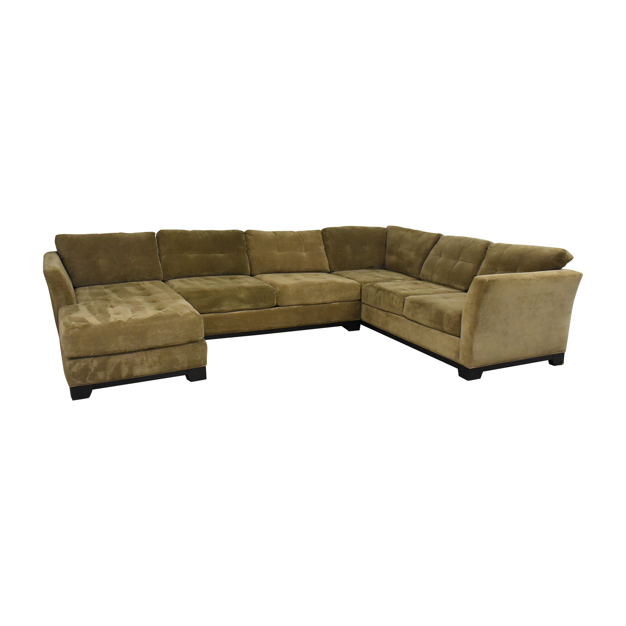 Macy's Macy's Elliot Three Piece Sectional Sofa dimensions