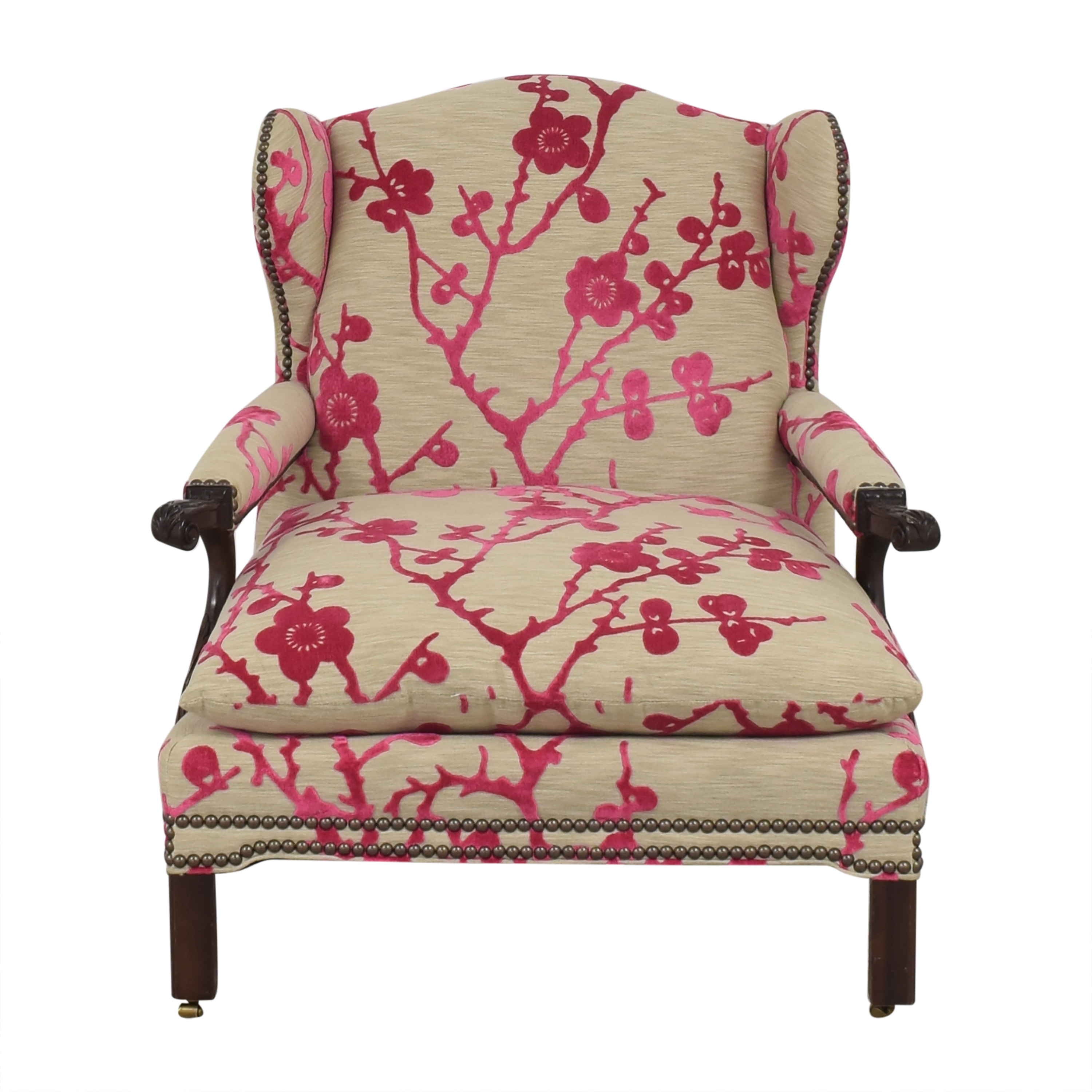 Hickory Chair Hickory Chair Custom Lounge Chair with Ottoman ma