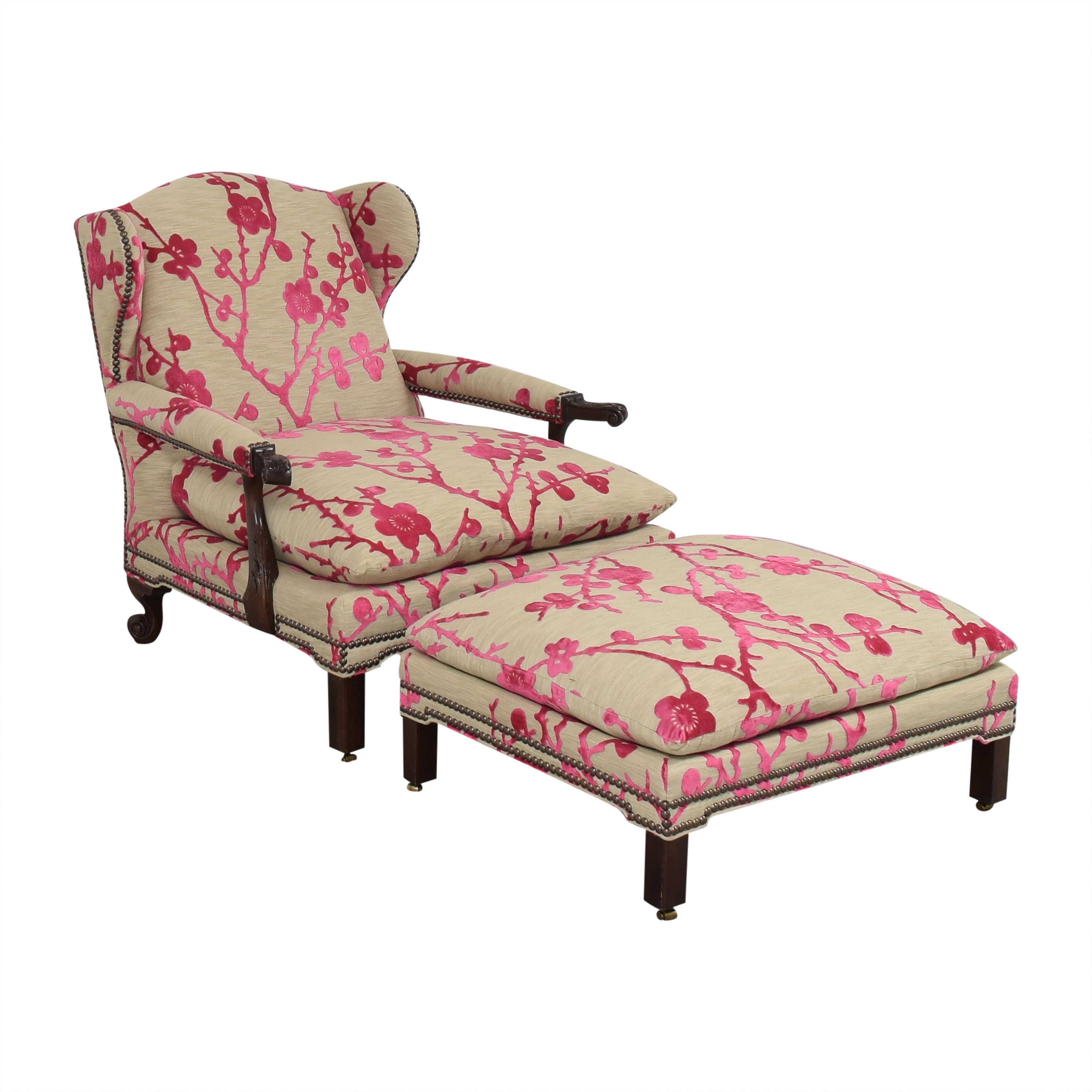 Hickory Chair Hickory Chair Custom Lounge Chair with Ottoman multi