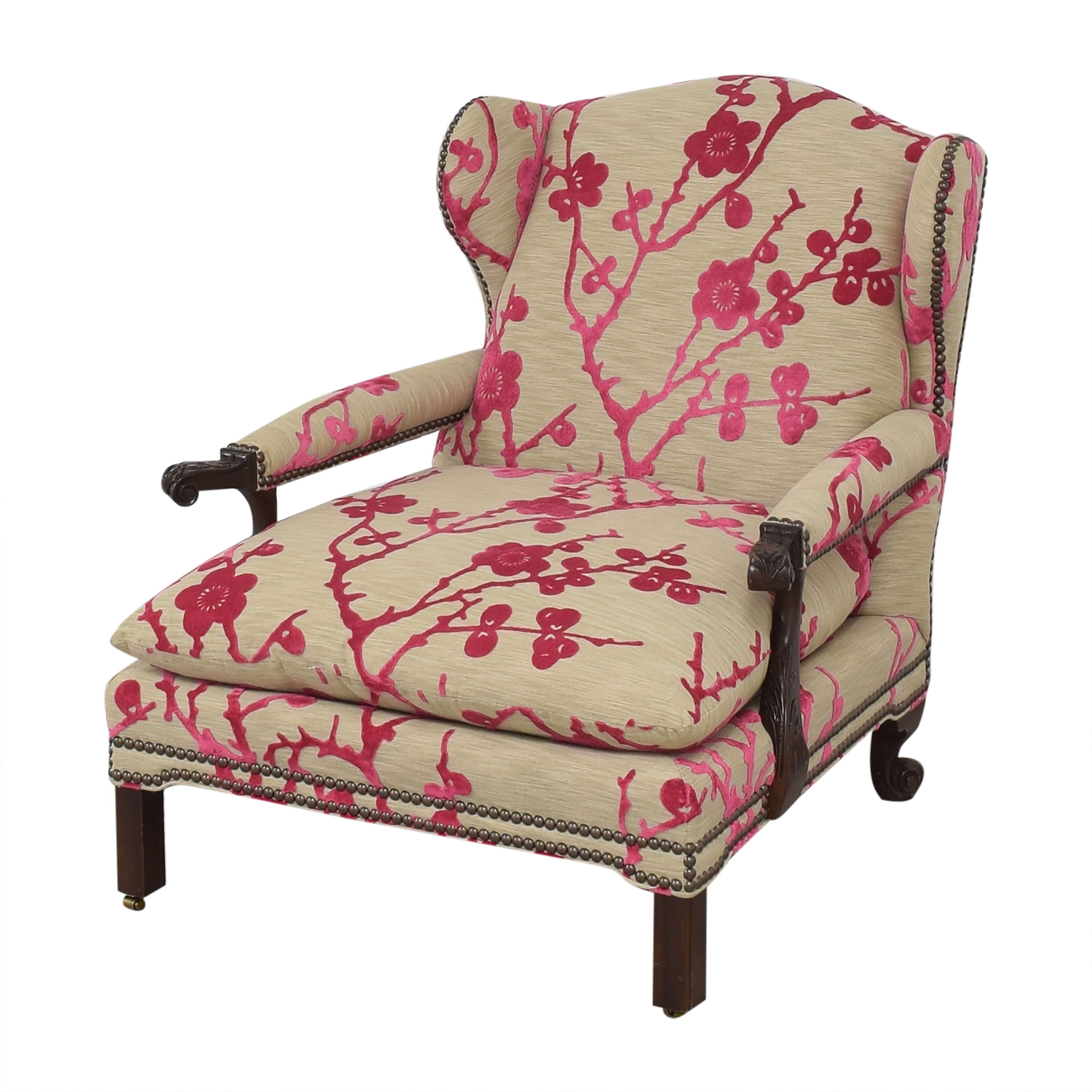 Hickory Chair Hickory Chair Custom Lounge Chair with Ottoman nyc