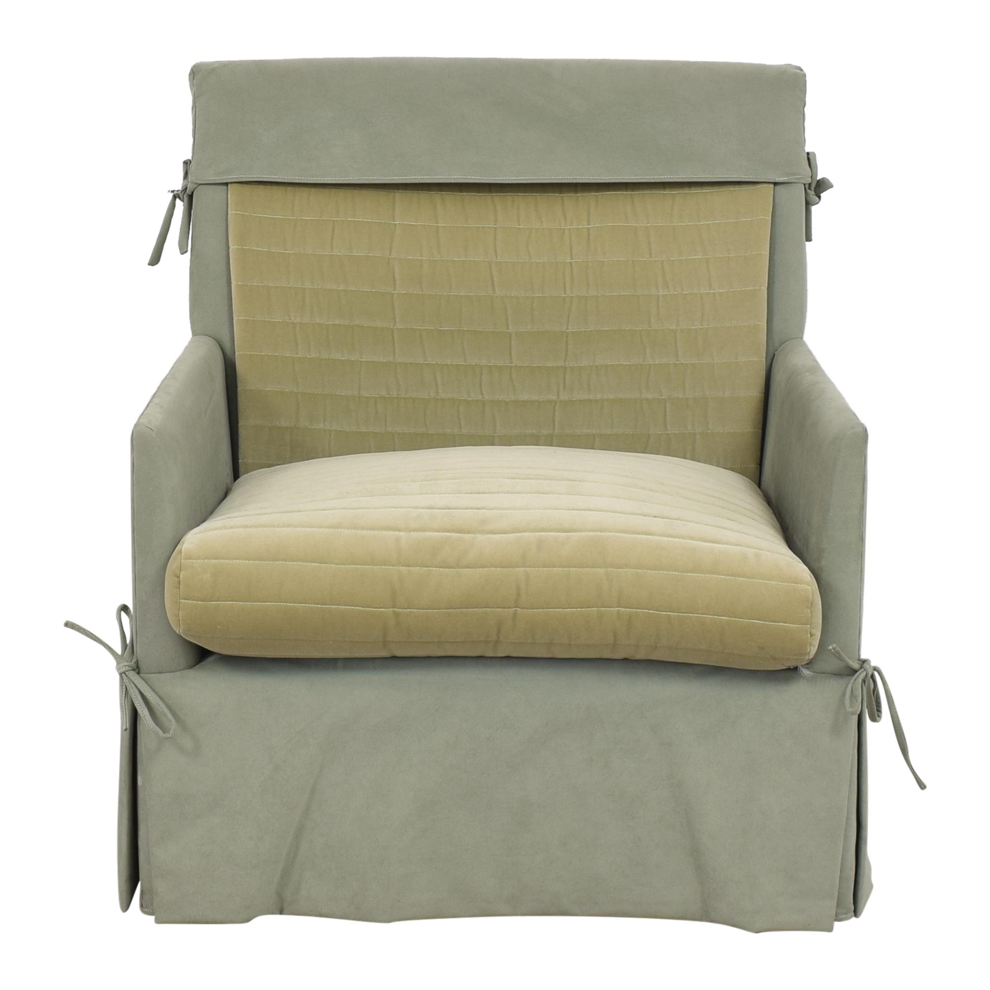 John Saladino John Saladino Skirted Swivel Accent Chair for sale