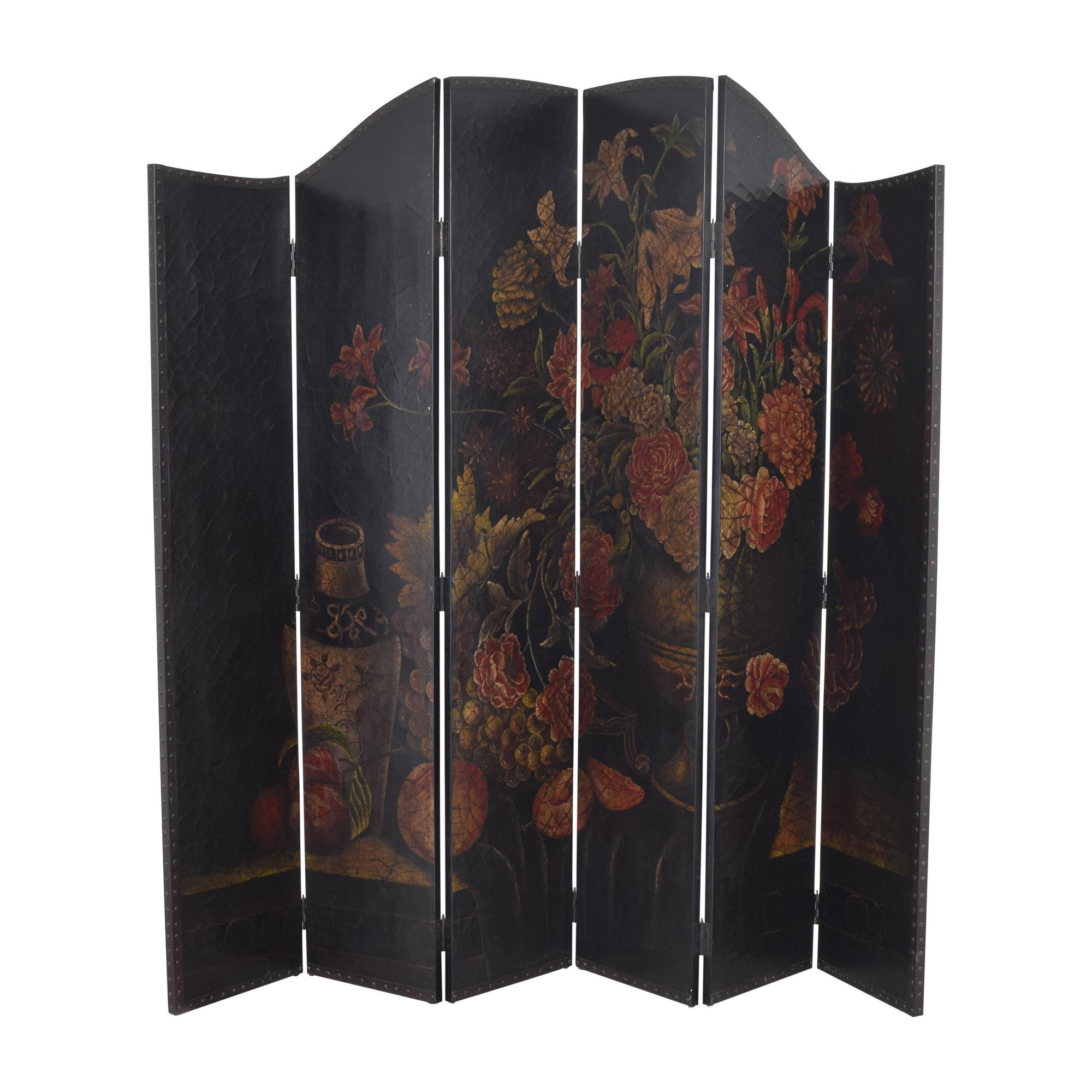 Arhaus Floral Folding Screen / Dividers