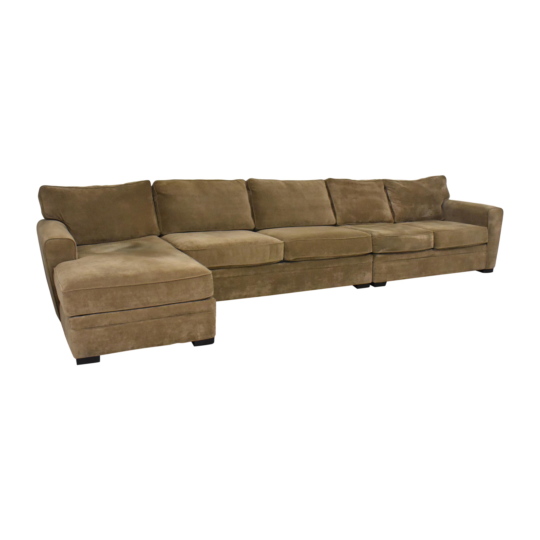 buy Raymour & Flanigan Chaise Sectional Sofa  Raymour & Flanigan Sofas