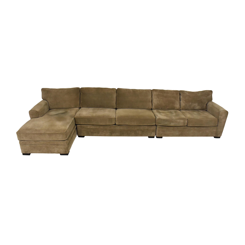 Raymour & Flanigan Raymour & Flanigan Chaise Sectional Sofa  nj