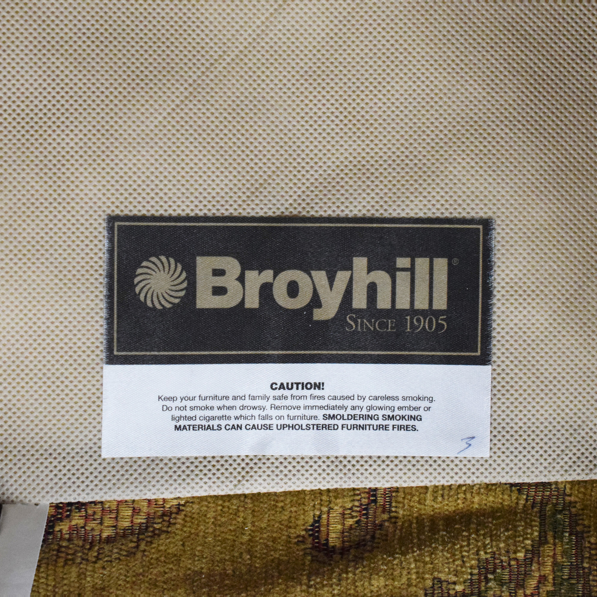 Broyhill Furniture Broyhill Furniture Roll Arm Chair with Ottoman nyc