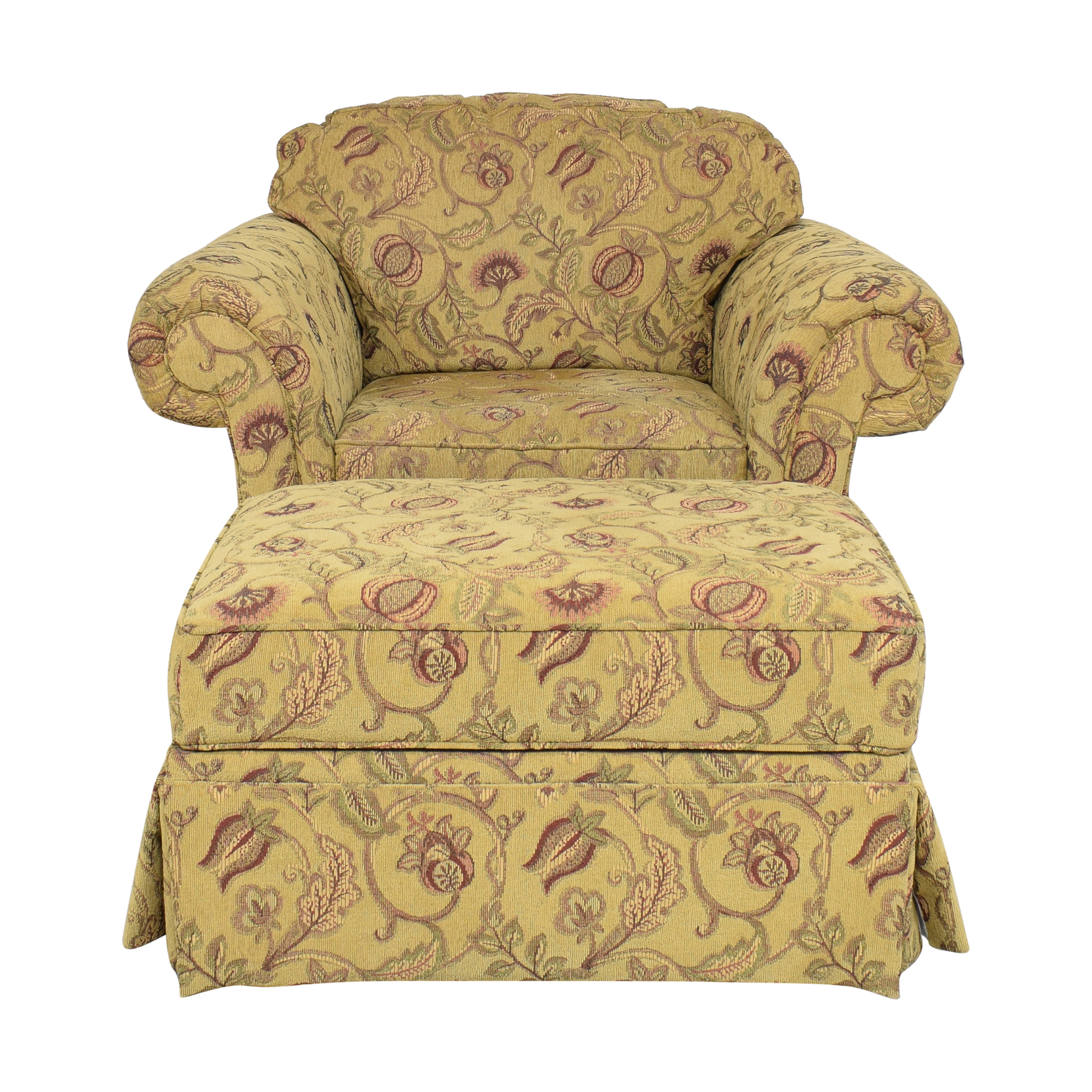 Broyhill Furniture Broyhill Furniture Roll Arm Chair with Ottoman Accent Chairs