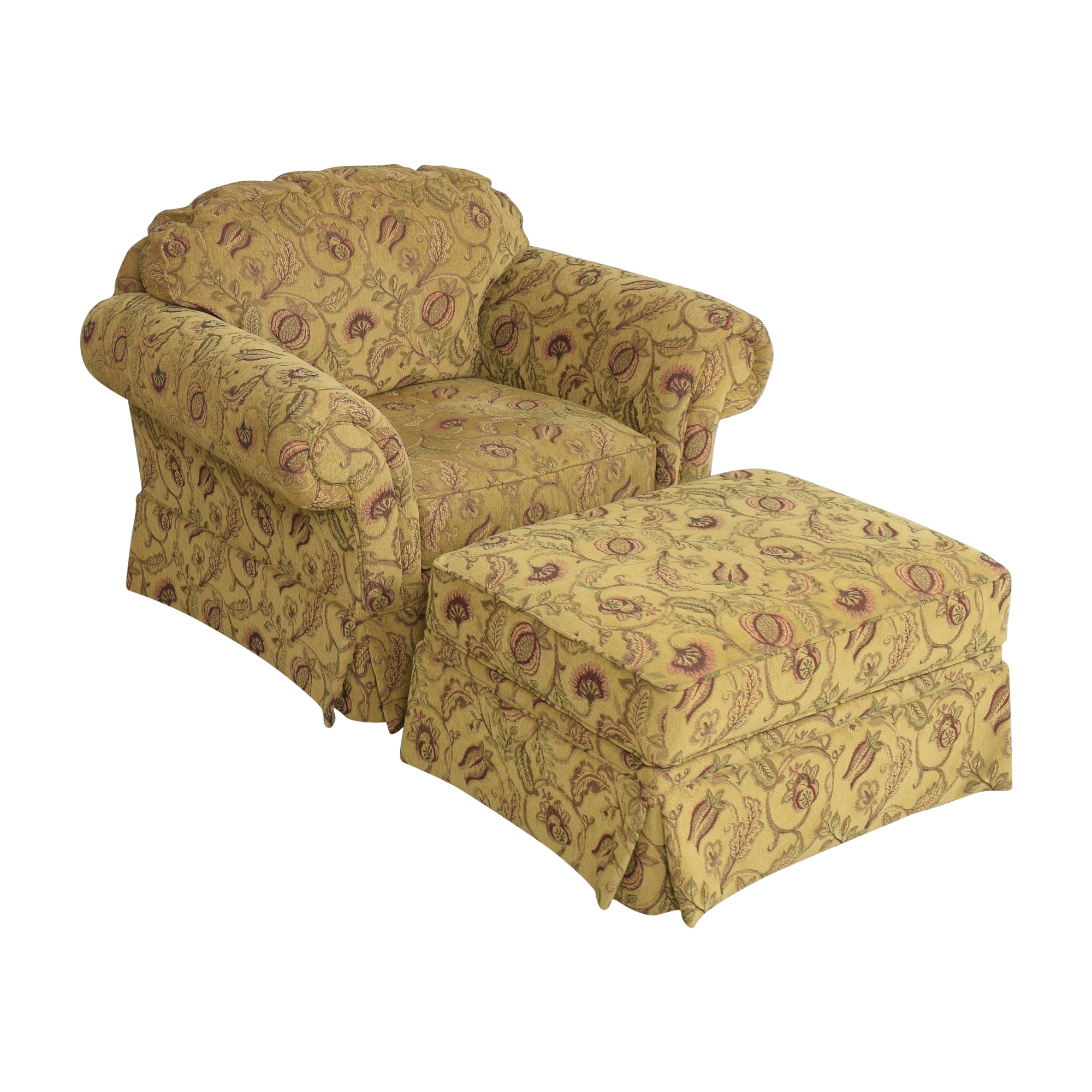 shop Broyhill Furniture Broyhill Furniture Roll Arm Chair with Ottoman online