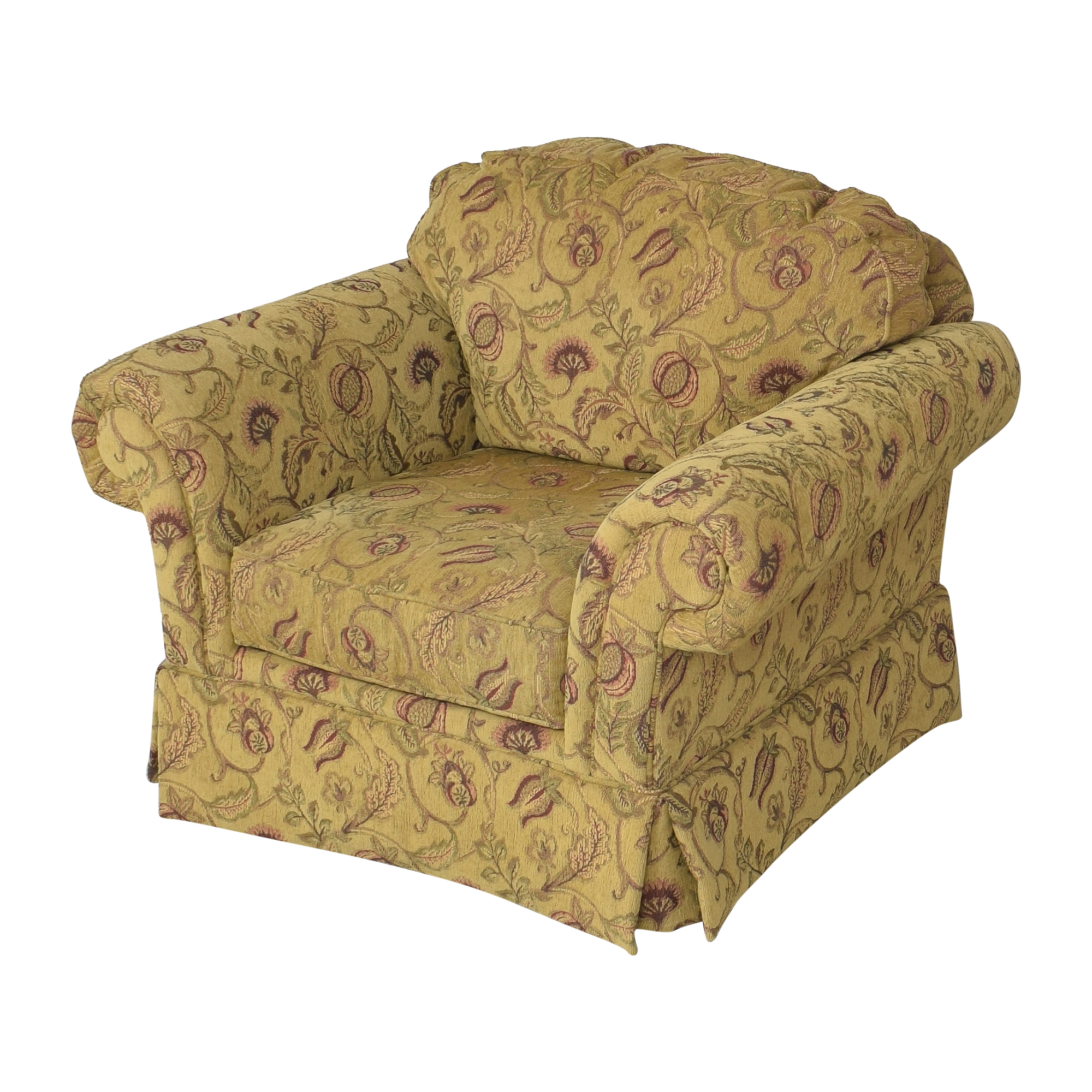 Broyhill Furniture Roll Arm Chair with Ottoman Broyhill Furniture