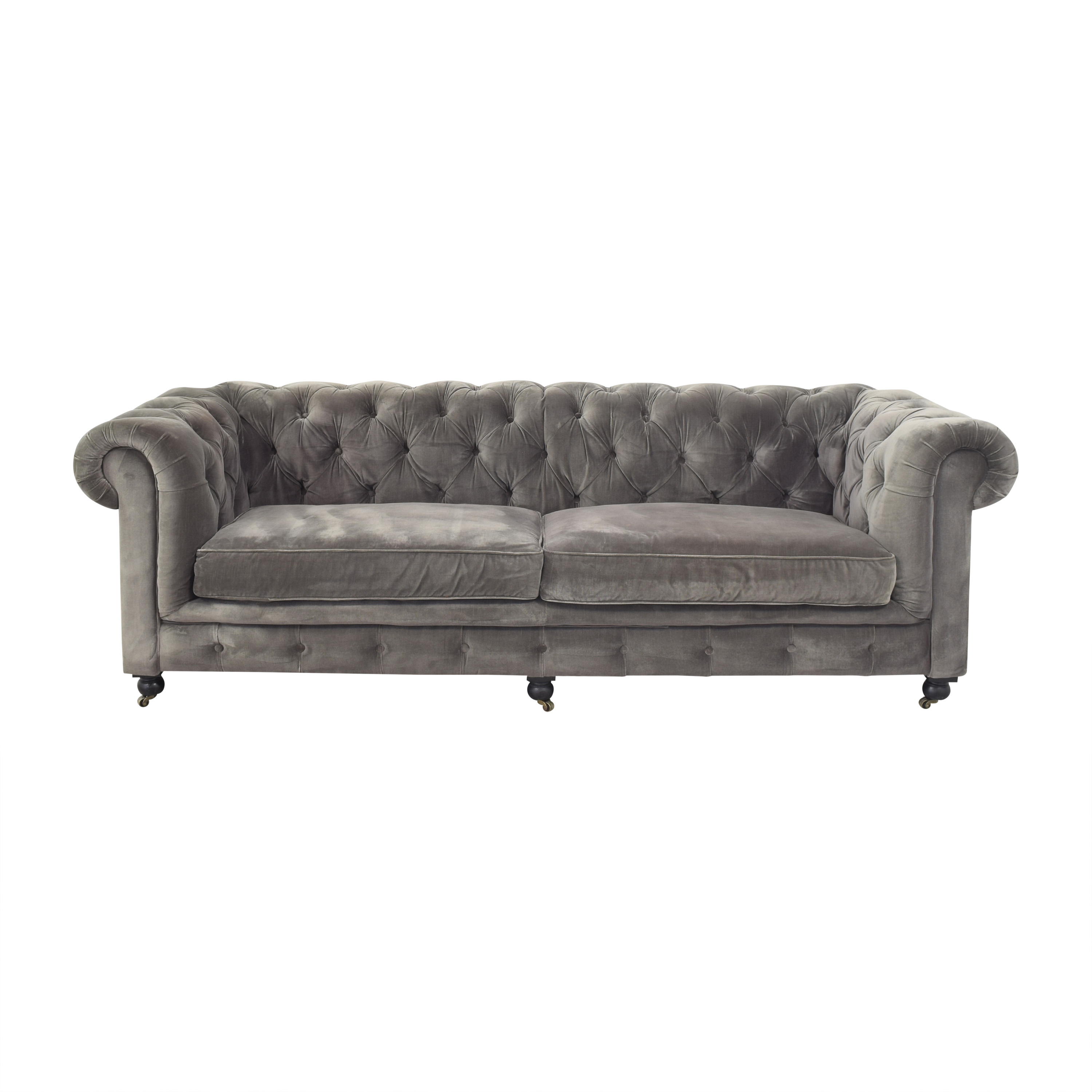 Restoration Hardware Restoration Hardware Kensington Chesterfield Sofa on sale
