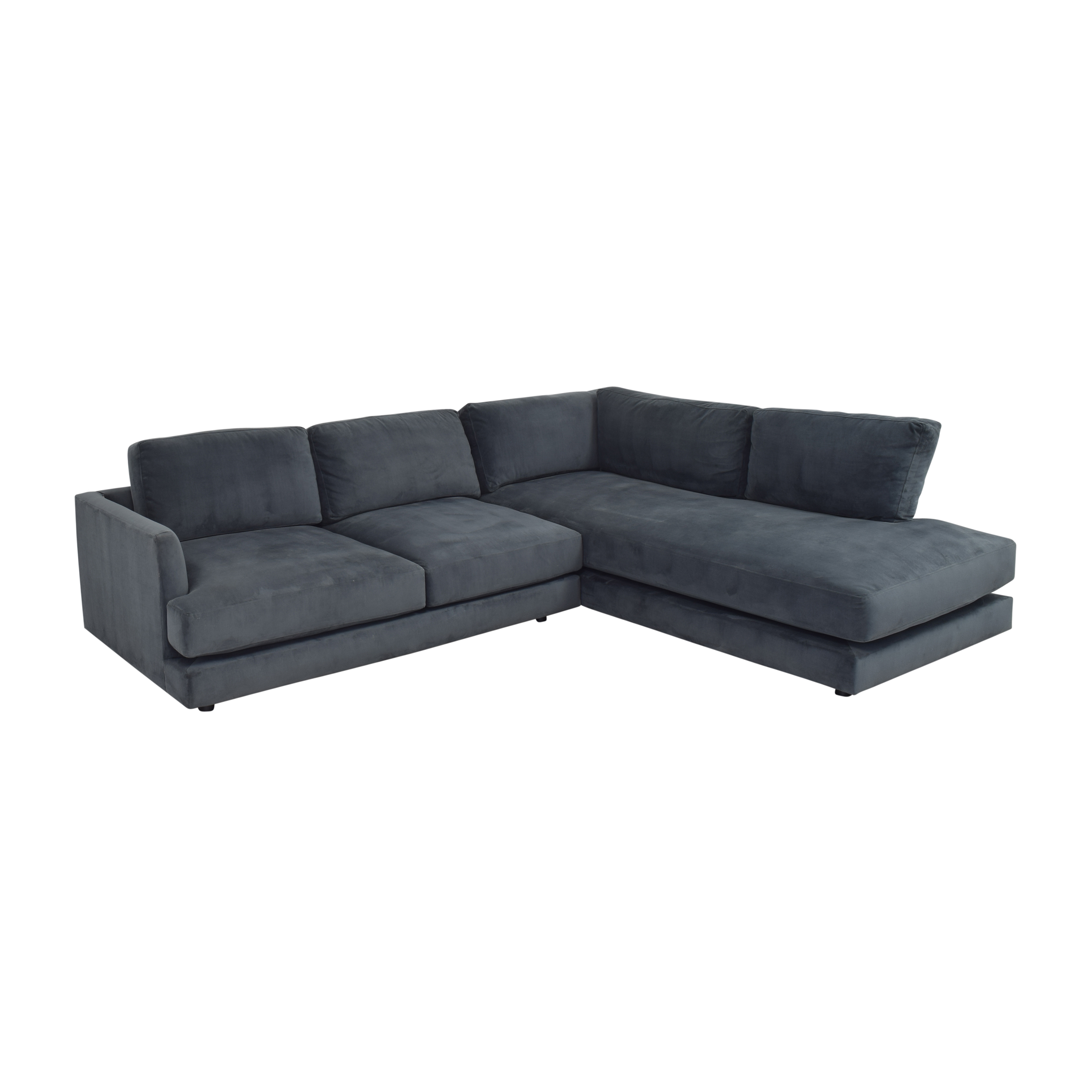 West Elm West Elm Haven Two Piece Terminal Chaise Sectional discount