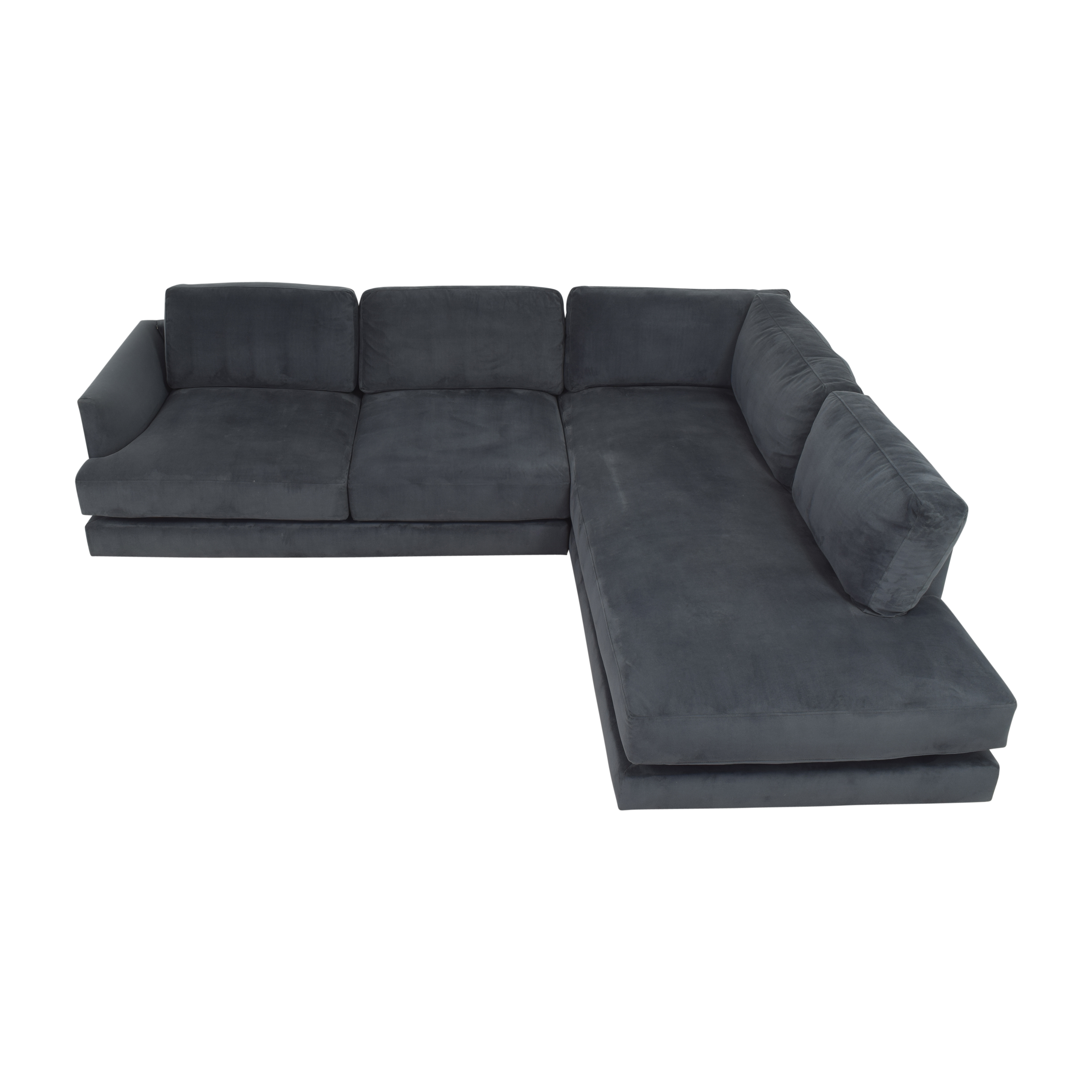 buy West Elm Haven Two Piece Terminal Chaise Sectional West Elm