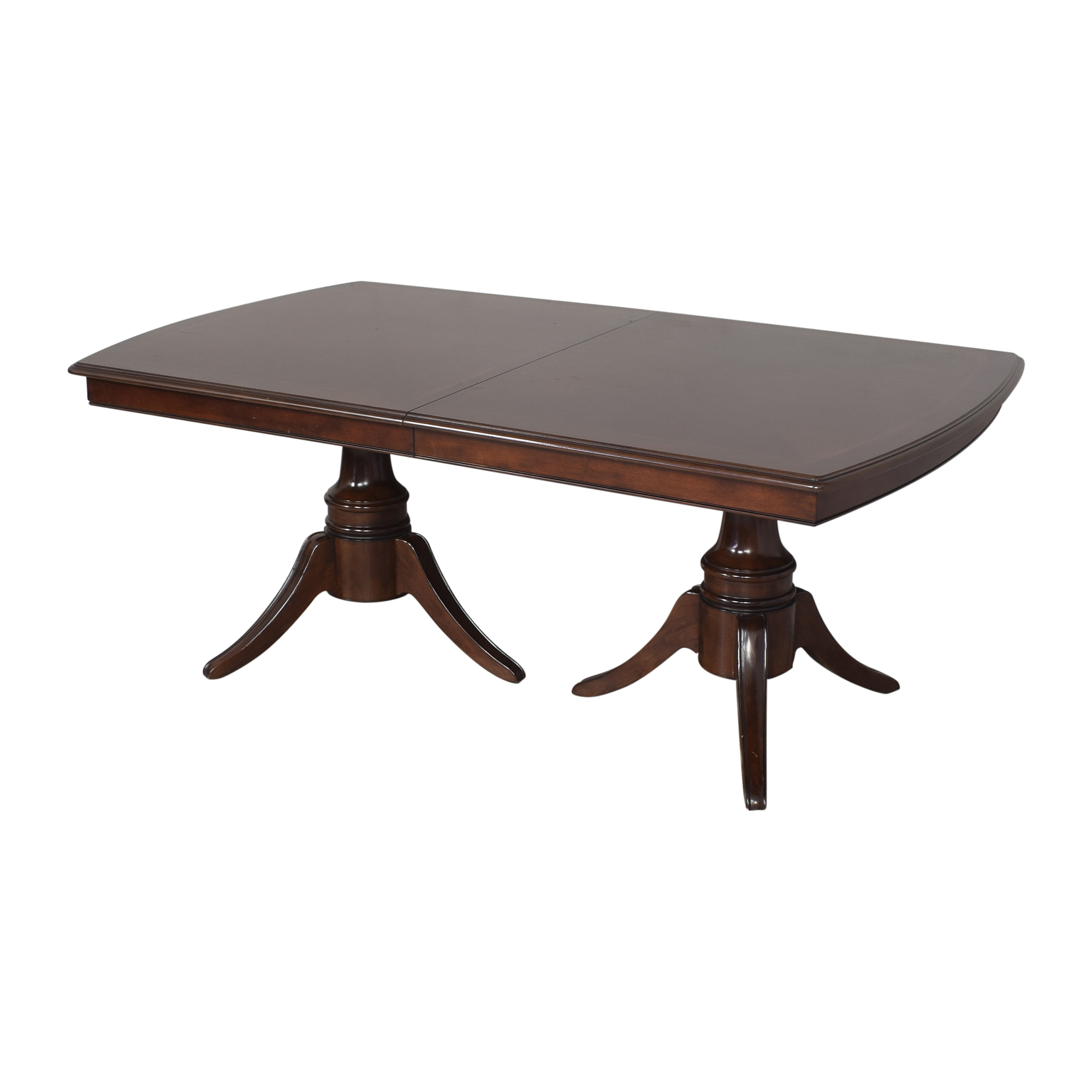 Raymour & Flanigan Raymour & Flanigan Double Pedestal Extendable Dining Table ma