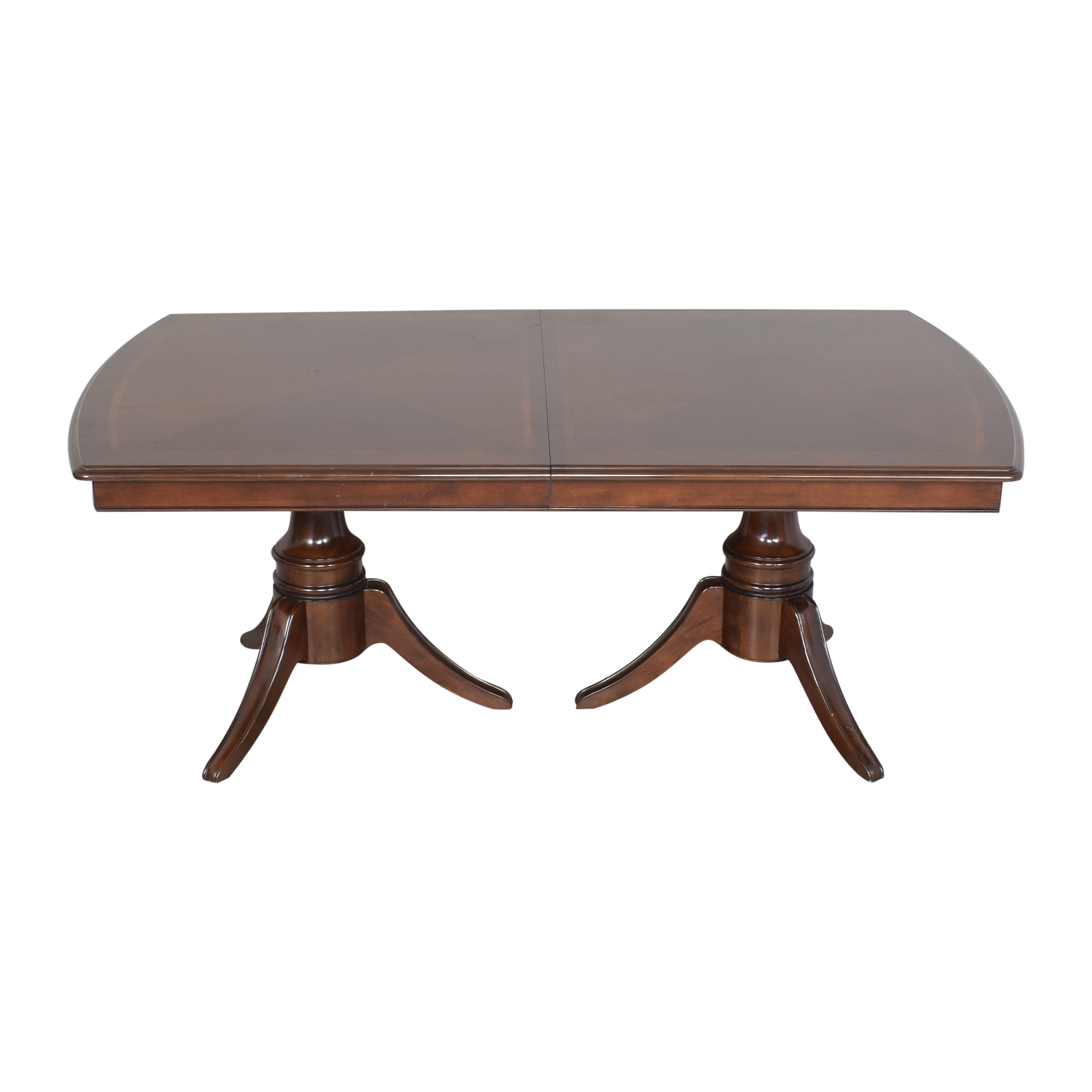 shop Raymour & Flanigan Double Pedestal Extendable Dining Table Raymour & Flanigan Tables