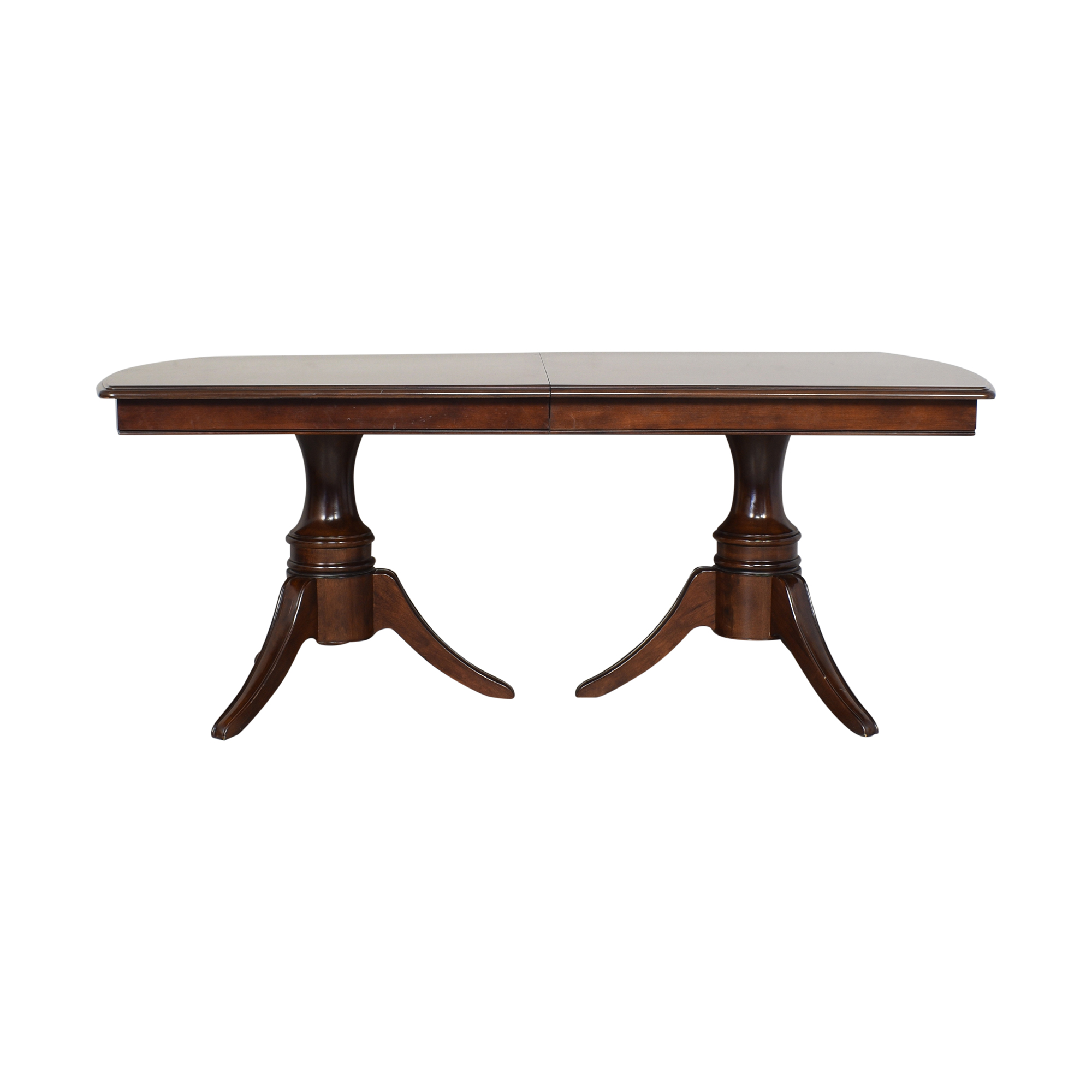 Raymour & Flanigan Double Pedestal Extendable Dining Table / Tables