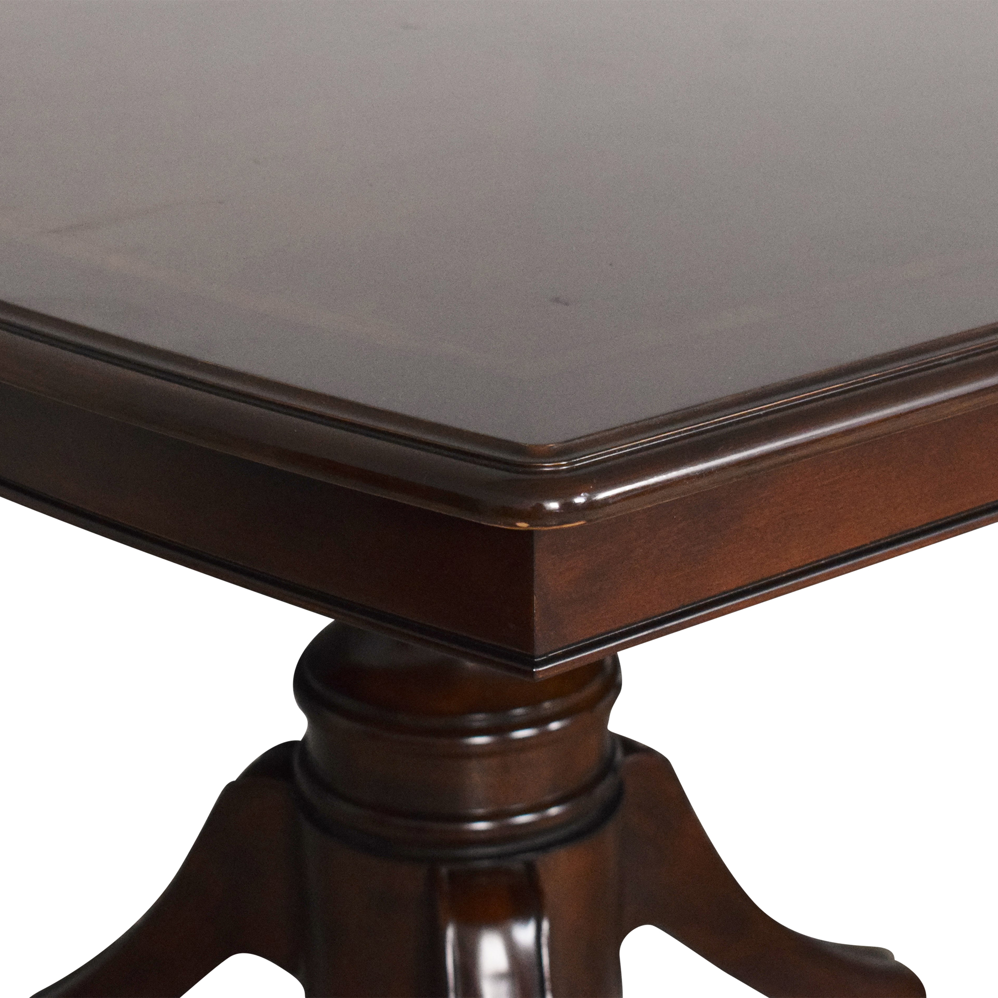 buy Raymour & Flanigan Raymour & Flanigan Double Pedestal Extendable Dining Table online