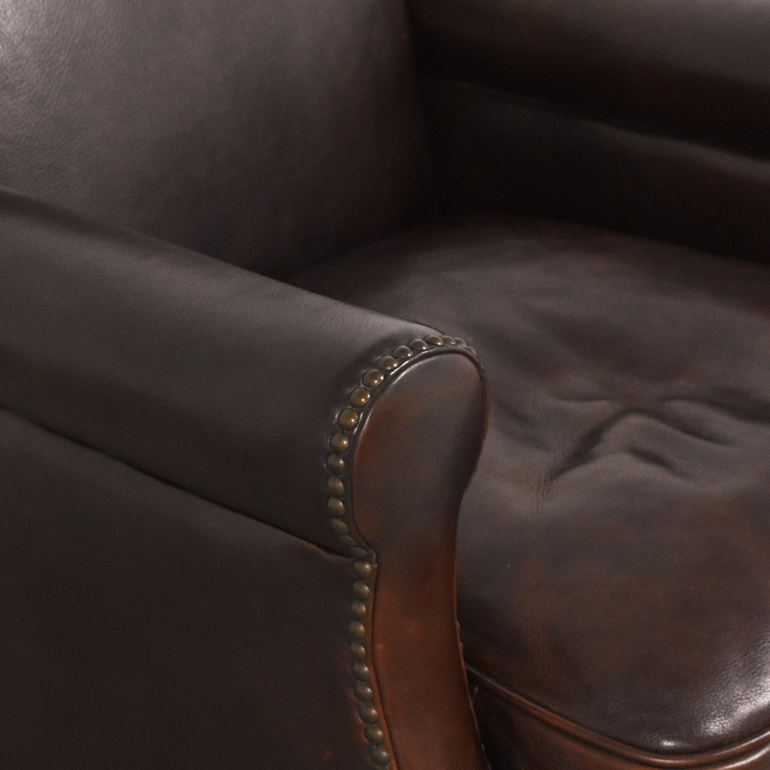 Bradington-Young Bradington-Young Roll Arm Nailhead Accent Chair Accent Chairs