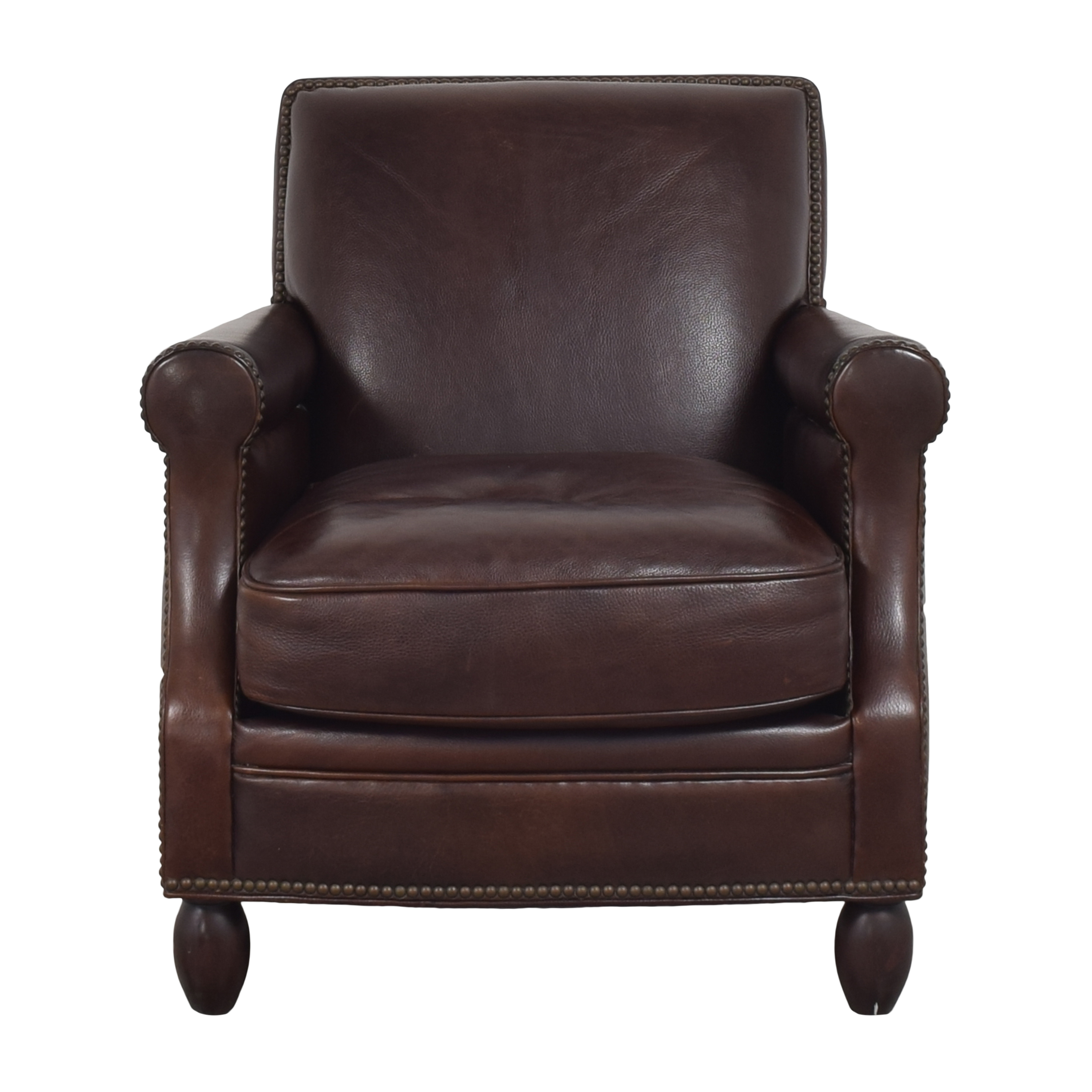 Bradington-Young Roll Arm Nailhead Accent Chair / Accent Chairs