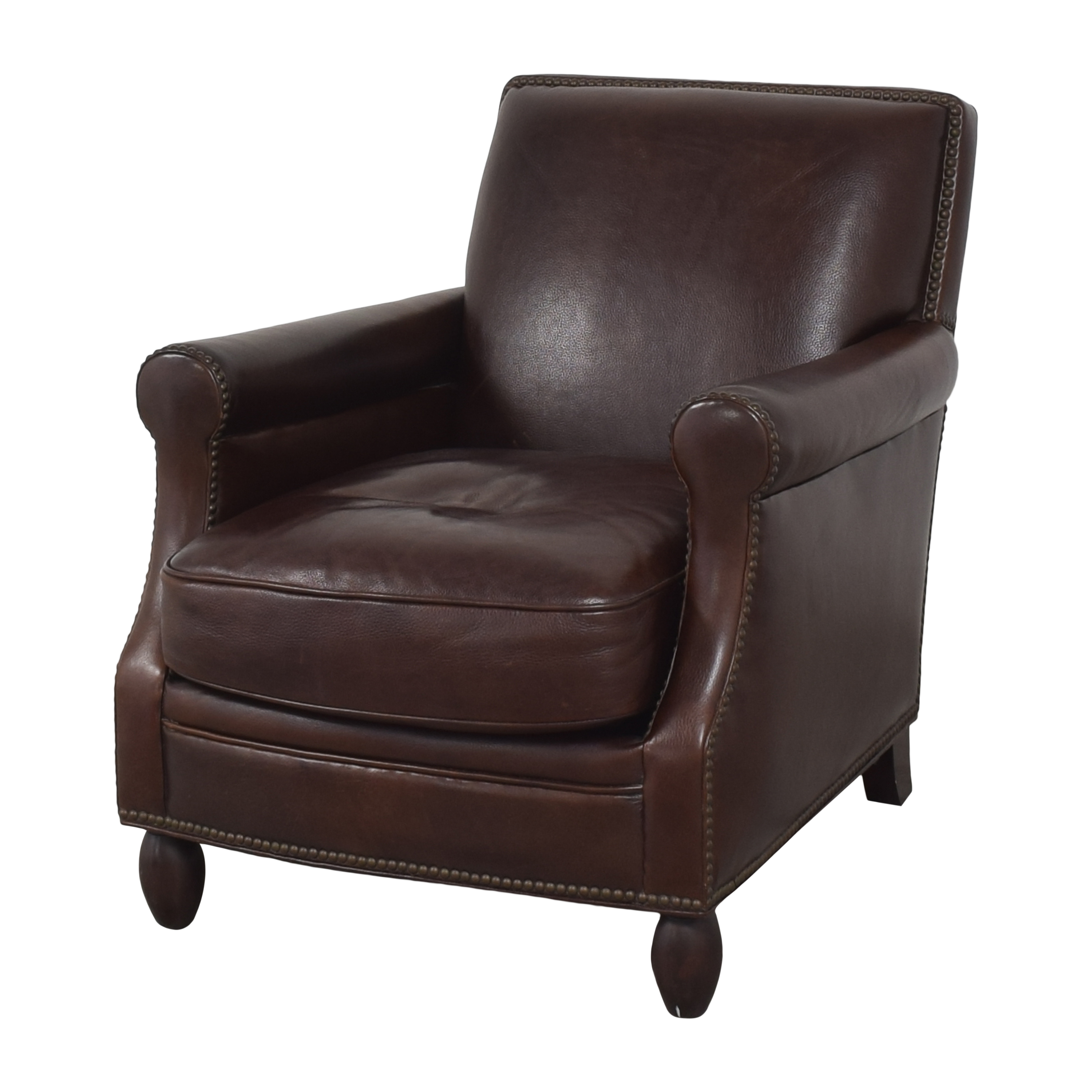Bradington-Young Bradington-Young Roll Arm Nailhead Accent Chair used