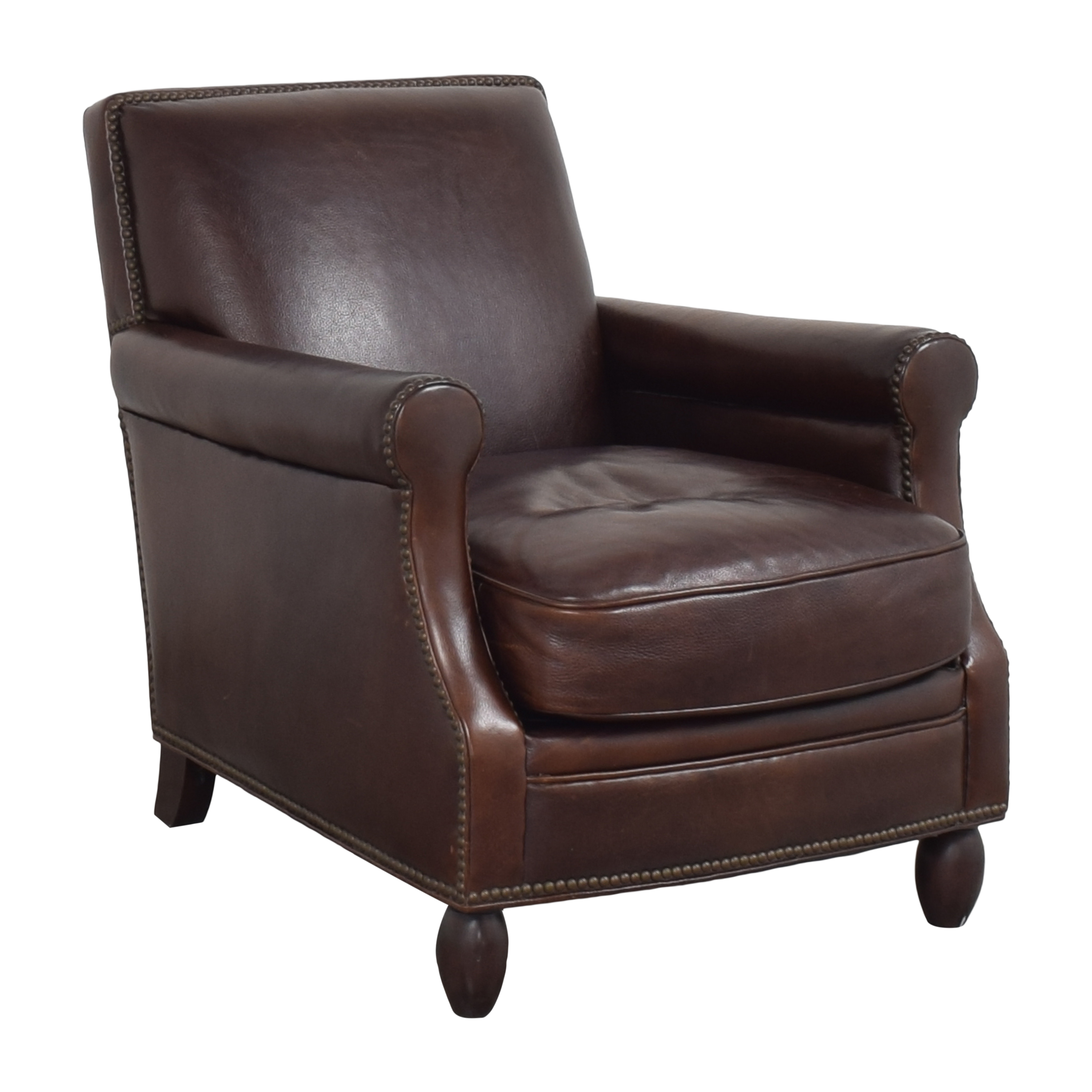 Bradington-Young Bradington-Young Roll Arm Nailhead Accent Chair ct