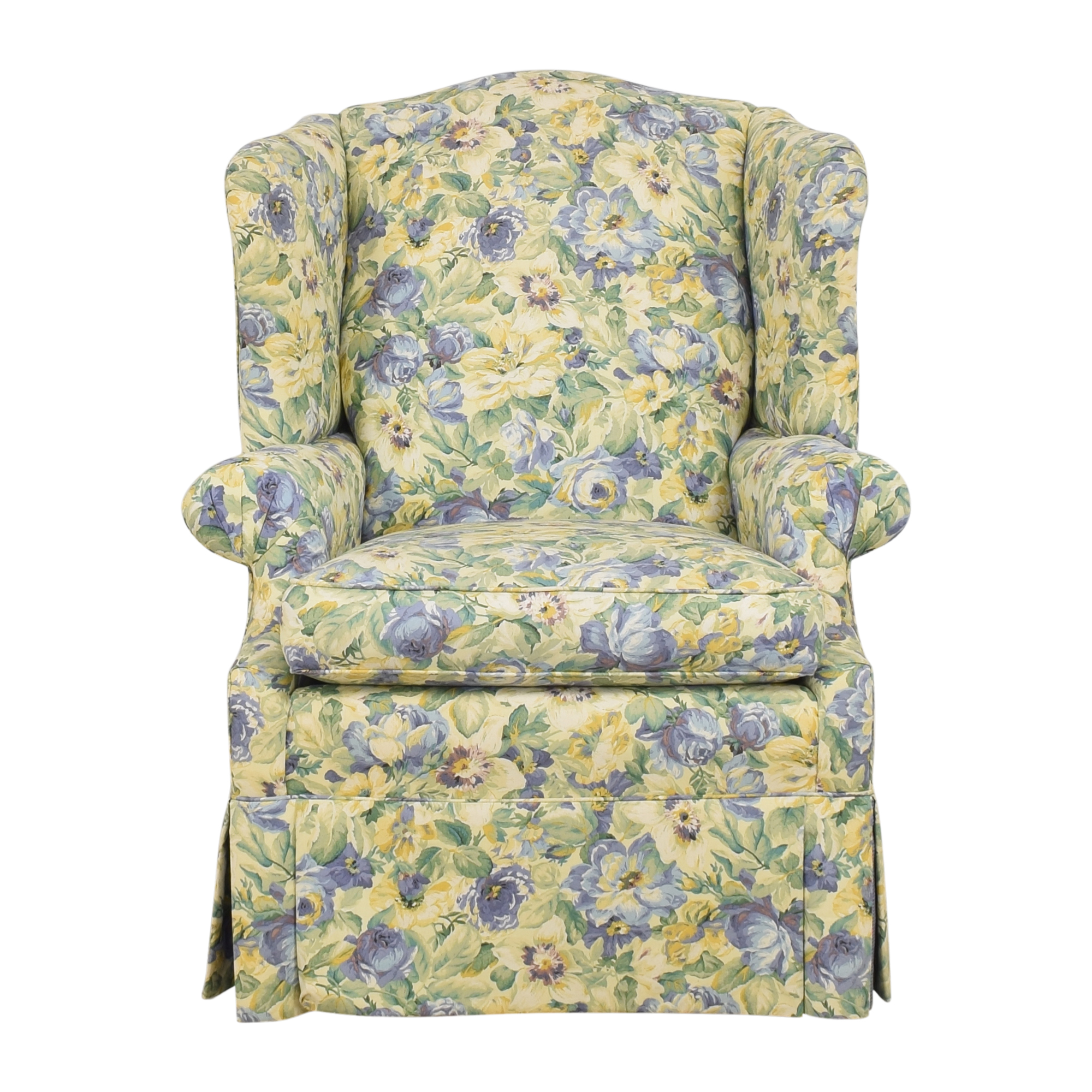 Ethan Allen Ethan Allen Skirted Wing Chair ct