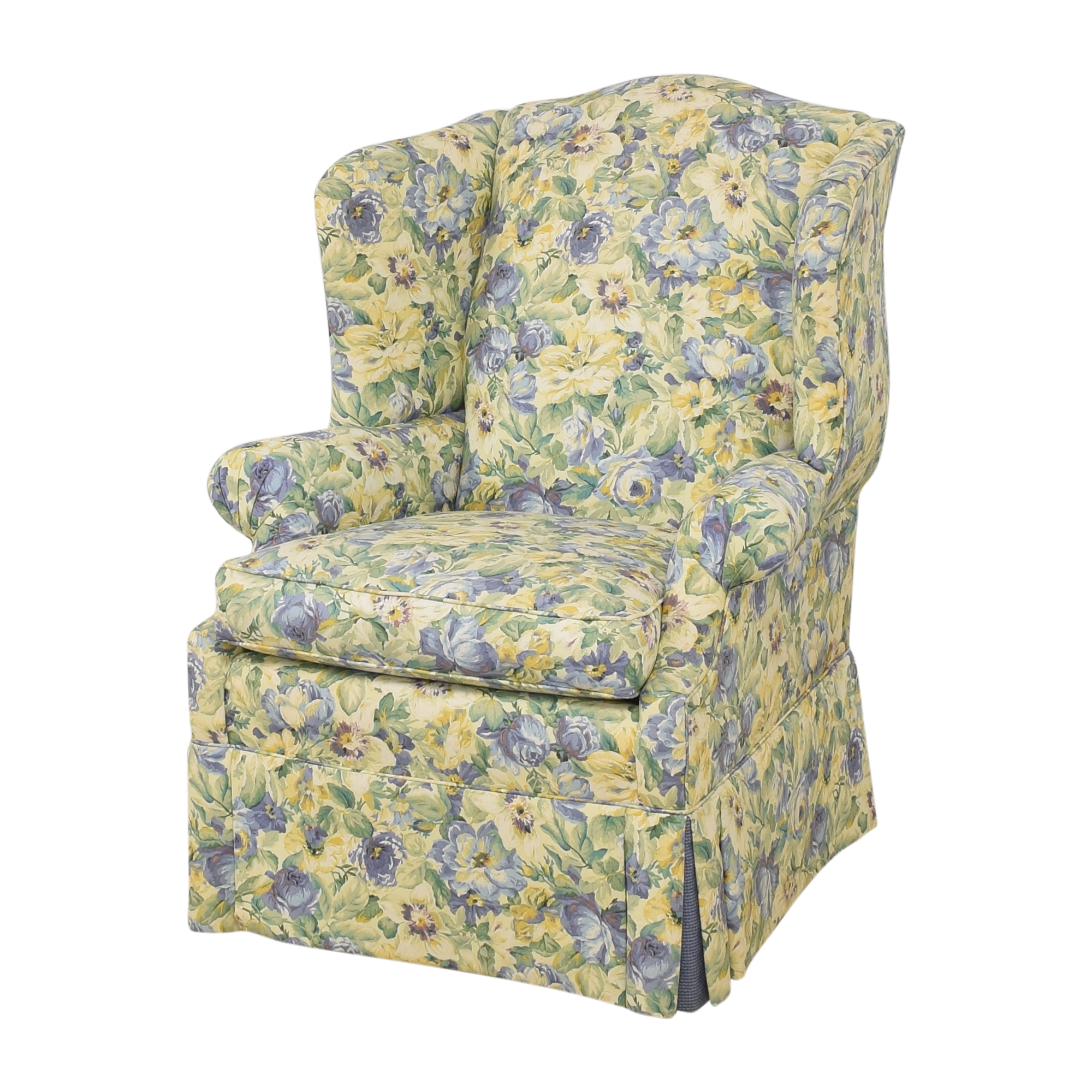 Ethan Allen Ethan Allen Skirted Wing Chair dimensions