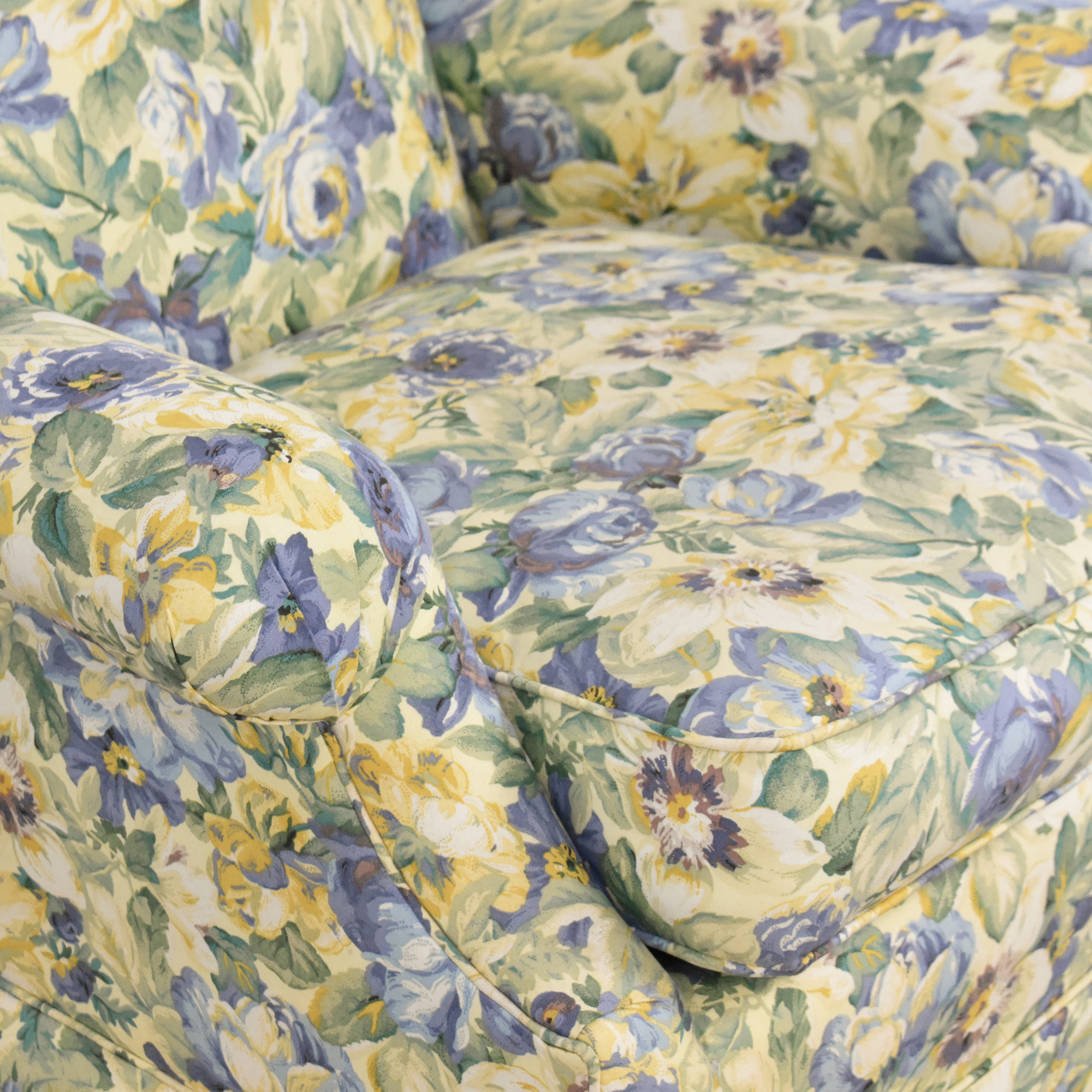 shop Ethan Allen Skirted Wing Chair Ethan Allen Accent Chairs