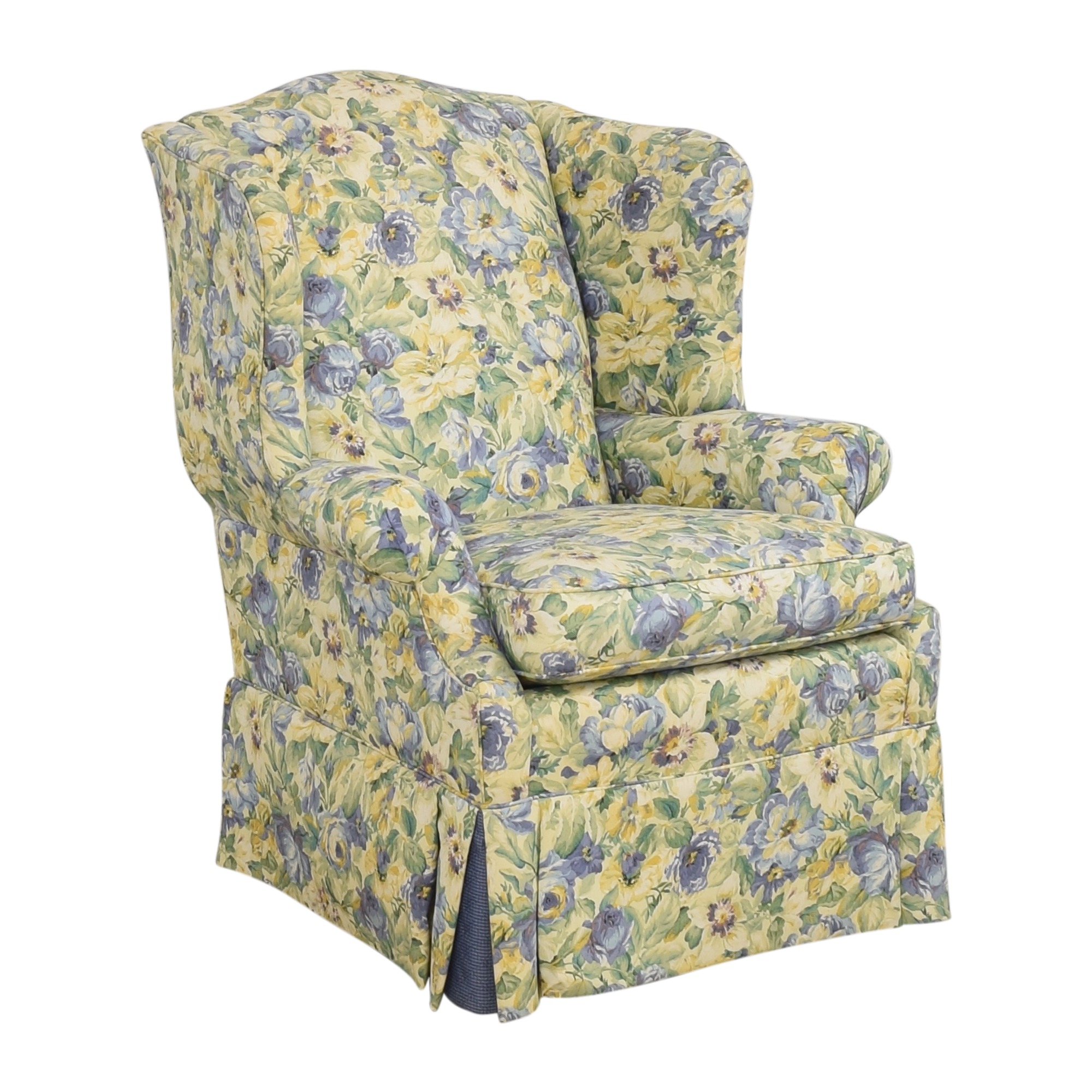 Ethan Allen Ethan Allen Skirted Wing Chair for sale