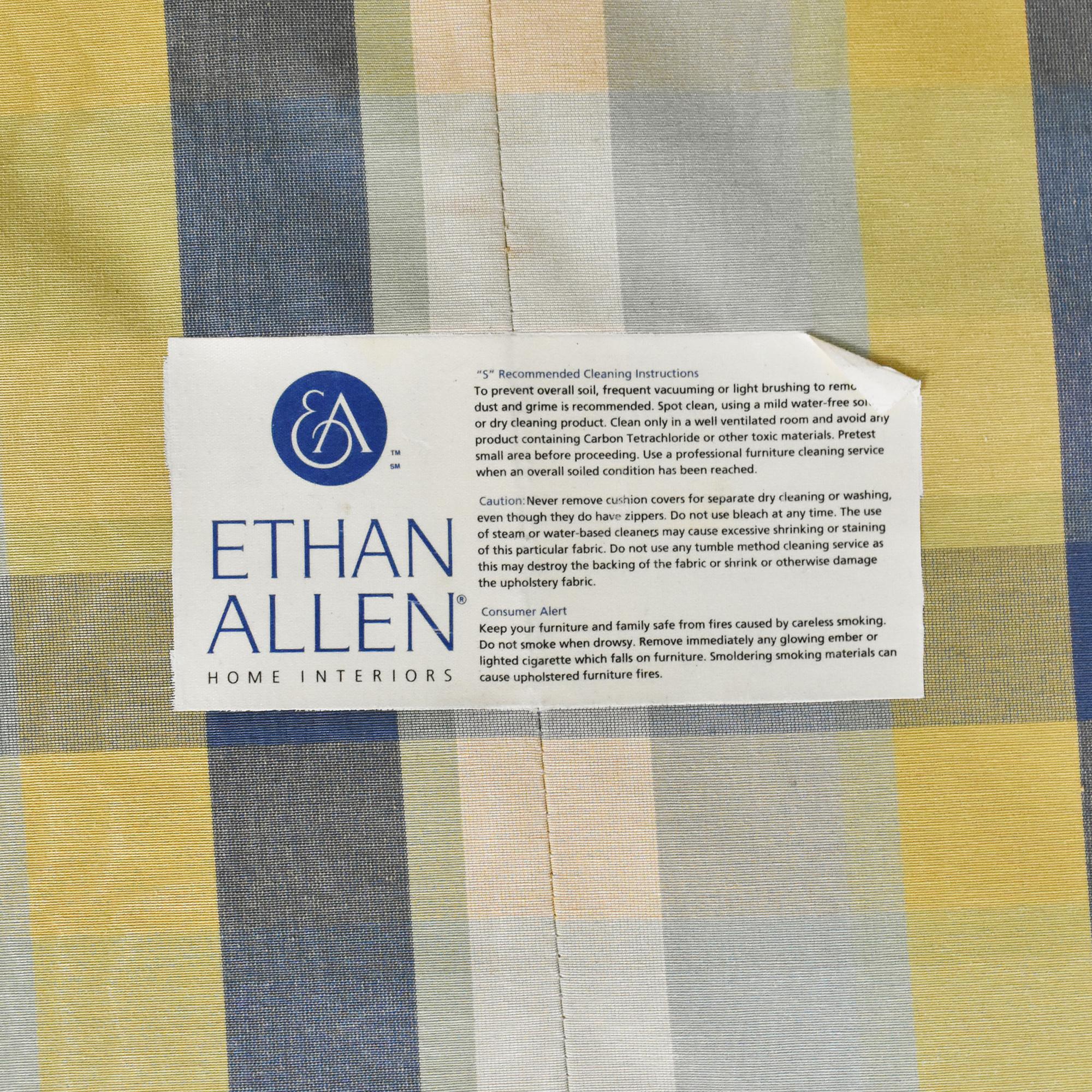 Ethan Allen Ethan Allen Skirted Roll Arm Loveseat second hand